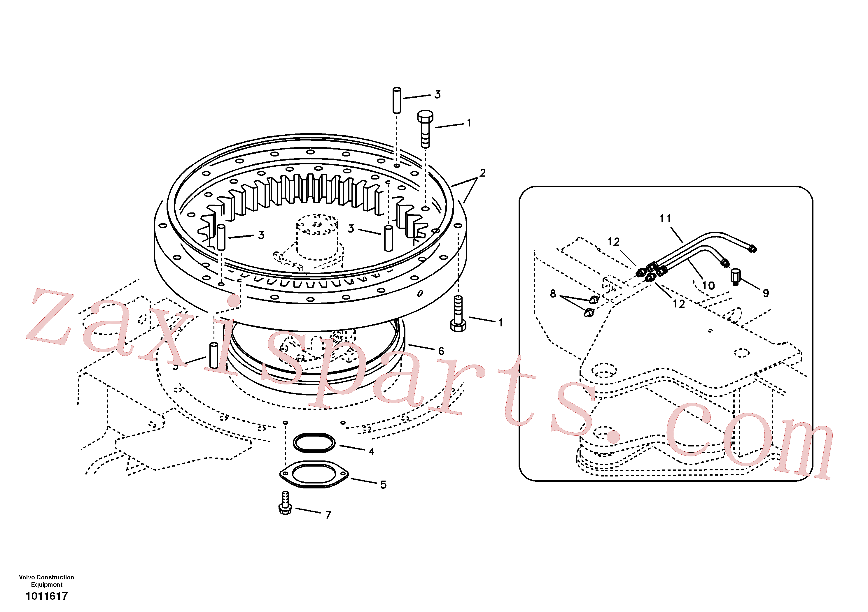SA9412-43010 for Volvo Swing system(1011617 assembly)