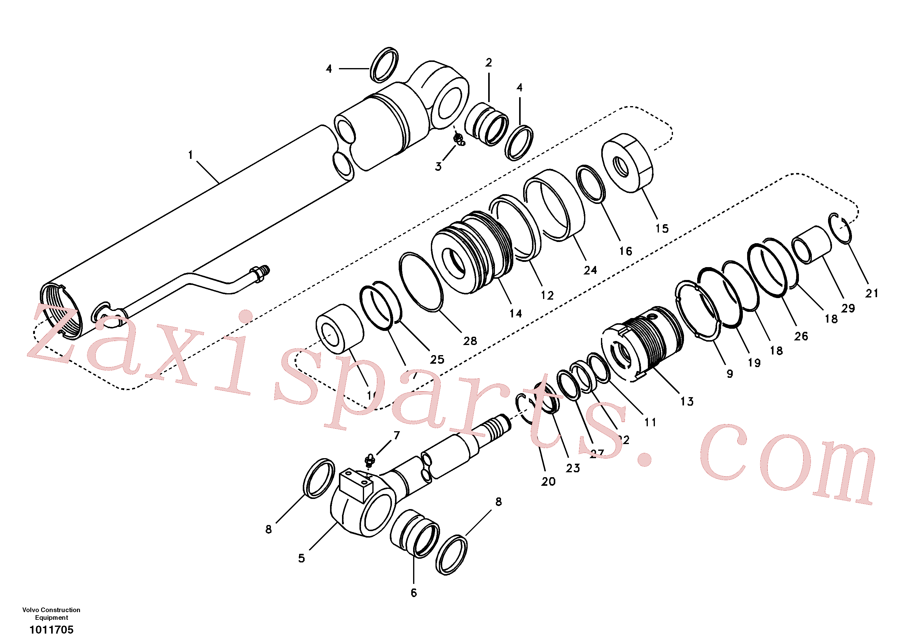 VOE14881297 for Volvo Boom cylinder(1011705 assembly)