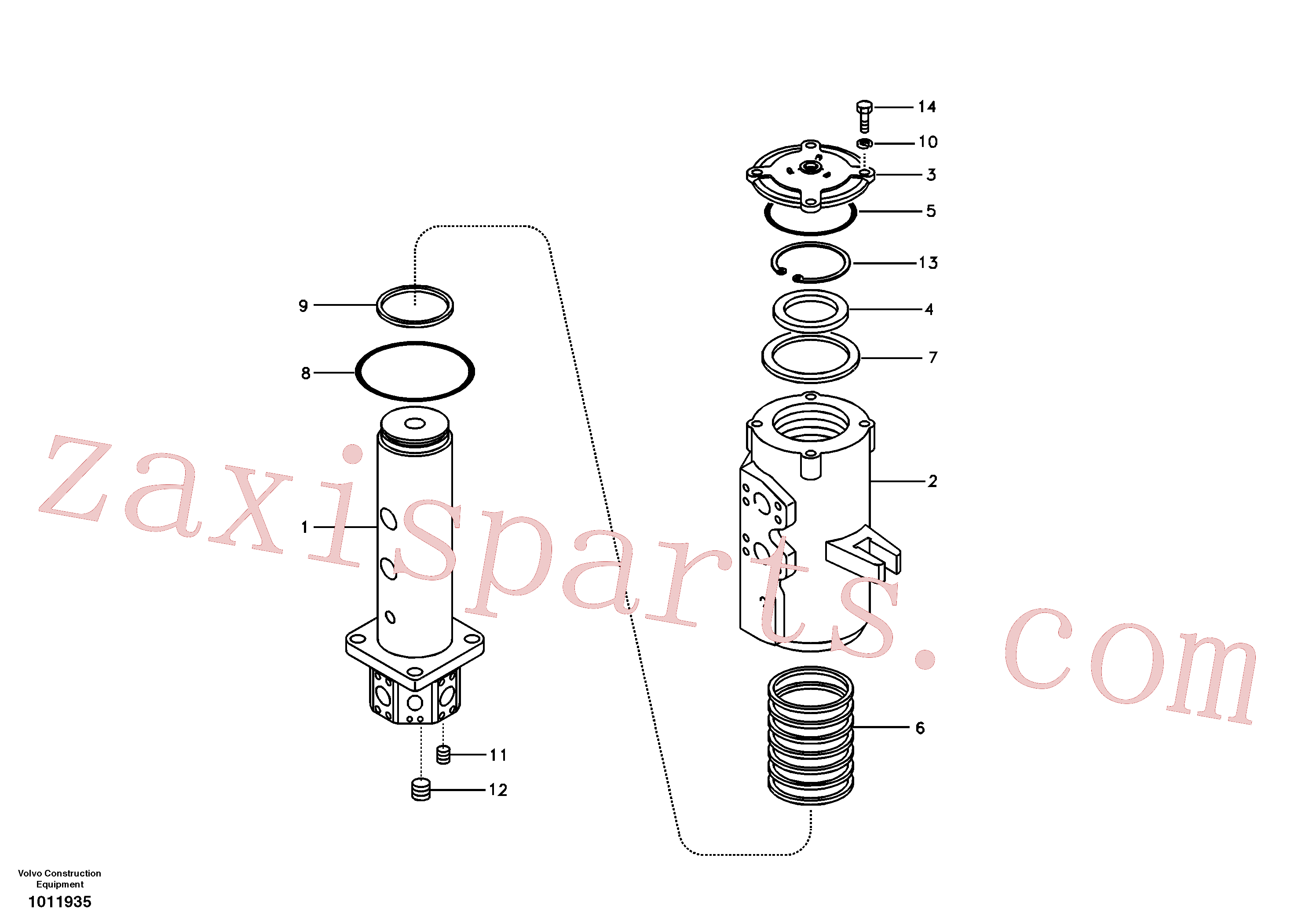 VOE990604 for Volvo Turning joint(1011935 assembly)