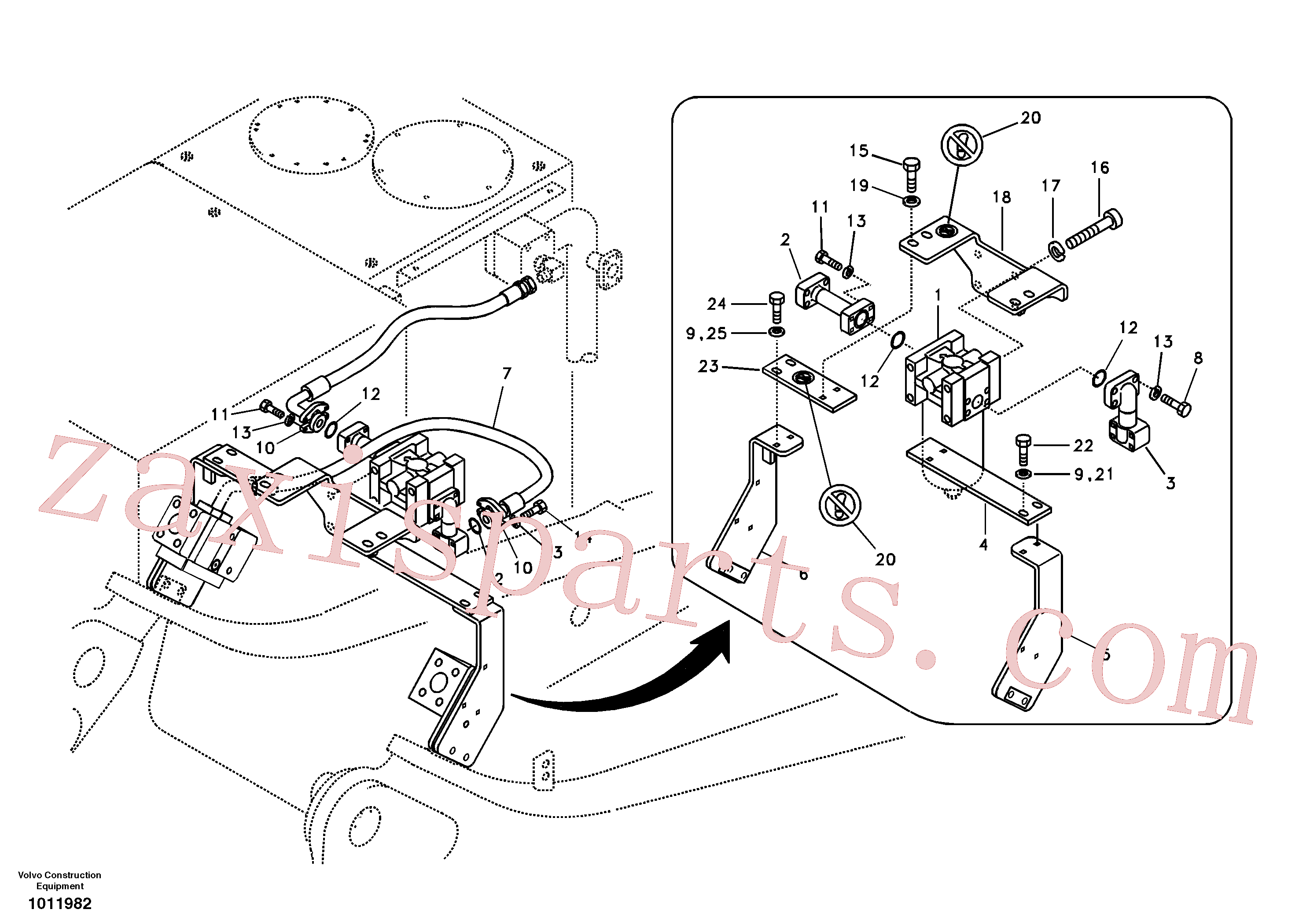 VOE14517203 for Volvo Working hydraulic, hammer and shear for return filter(1011982 assembly)