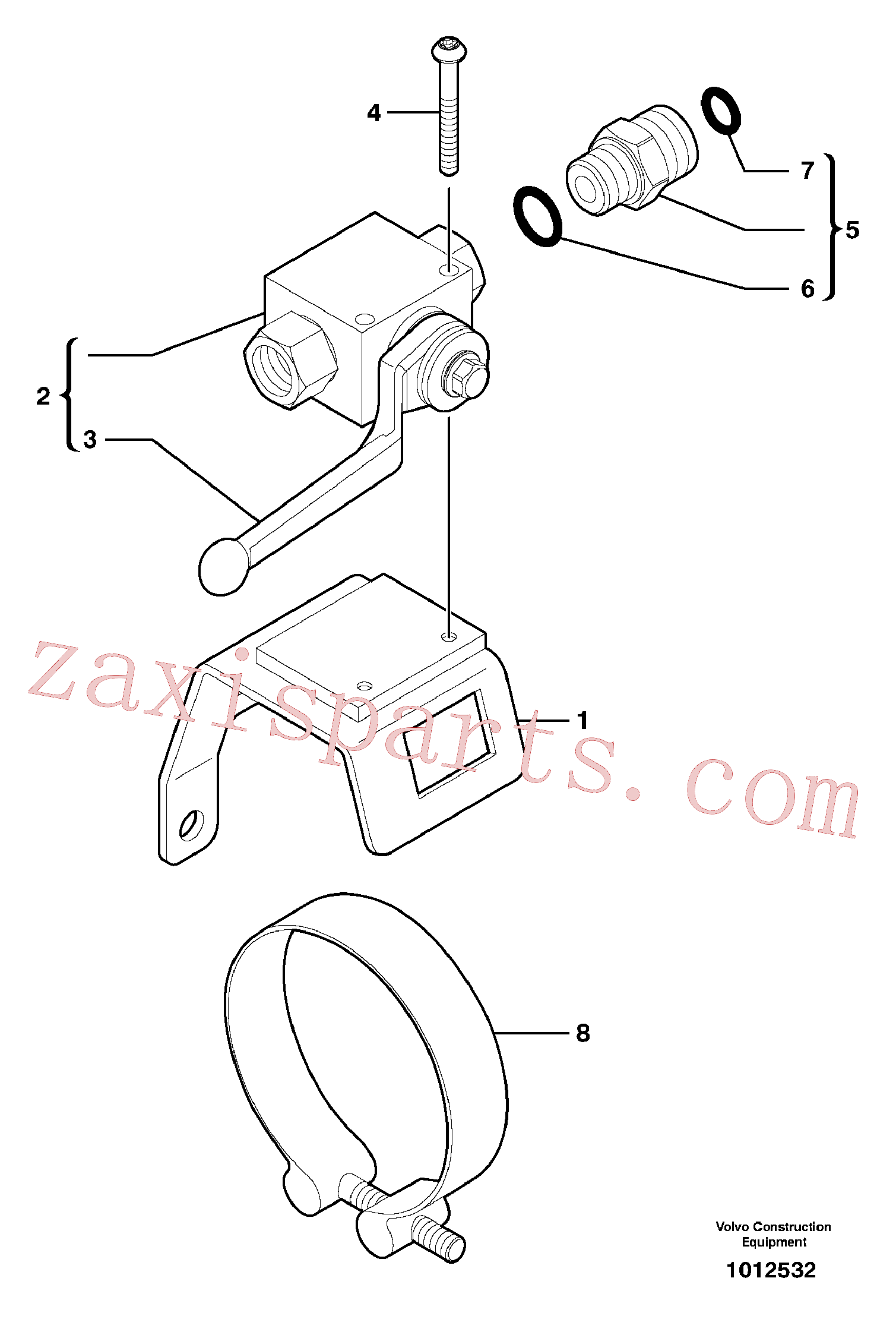 PJ4780009 for Volvo Two-way valve(1012532 assembly)
