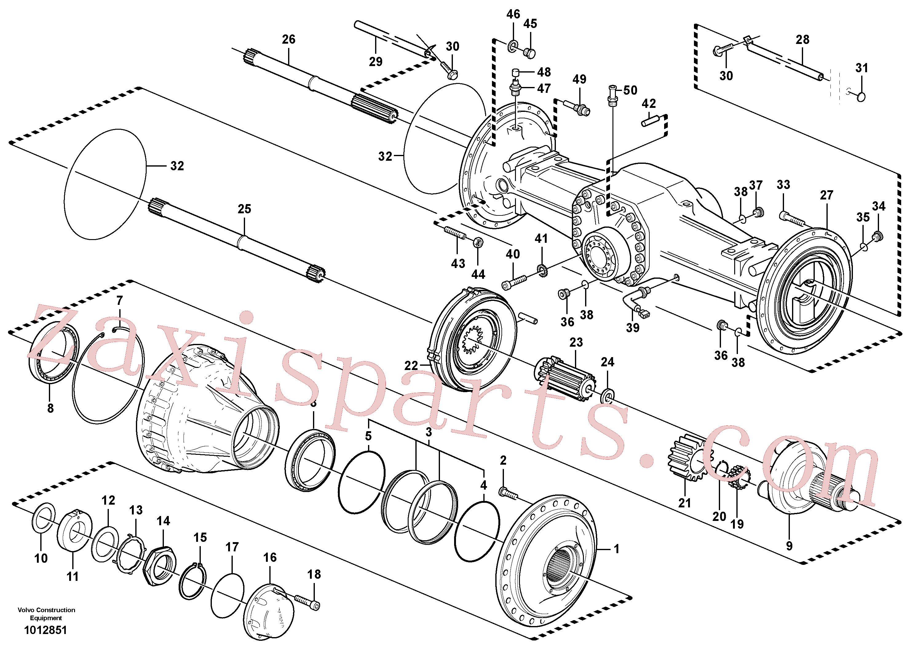 VOE11705205 for Volvo Planetary axle, rear(1012851 assembly)