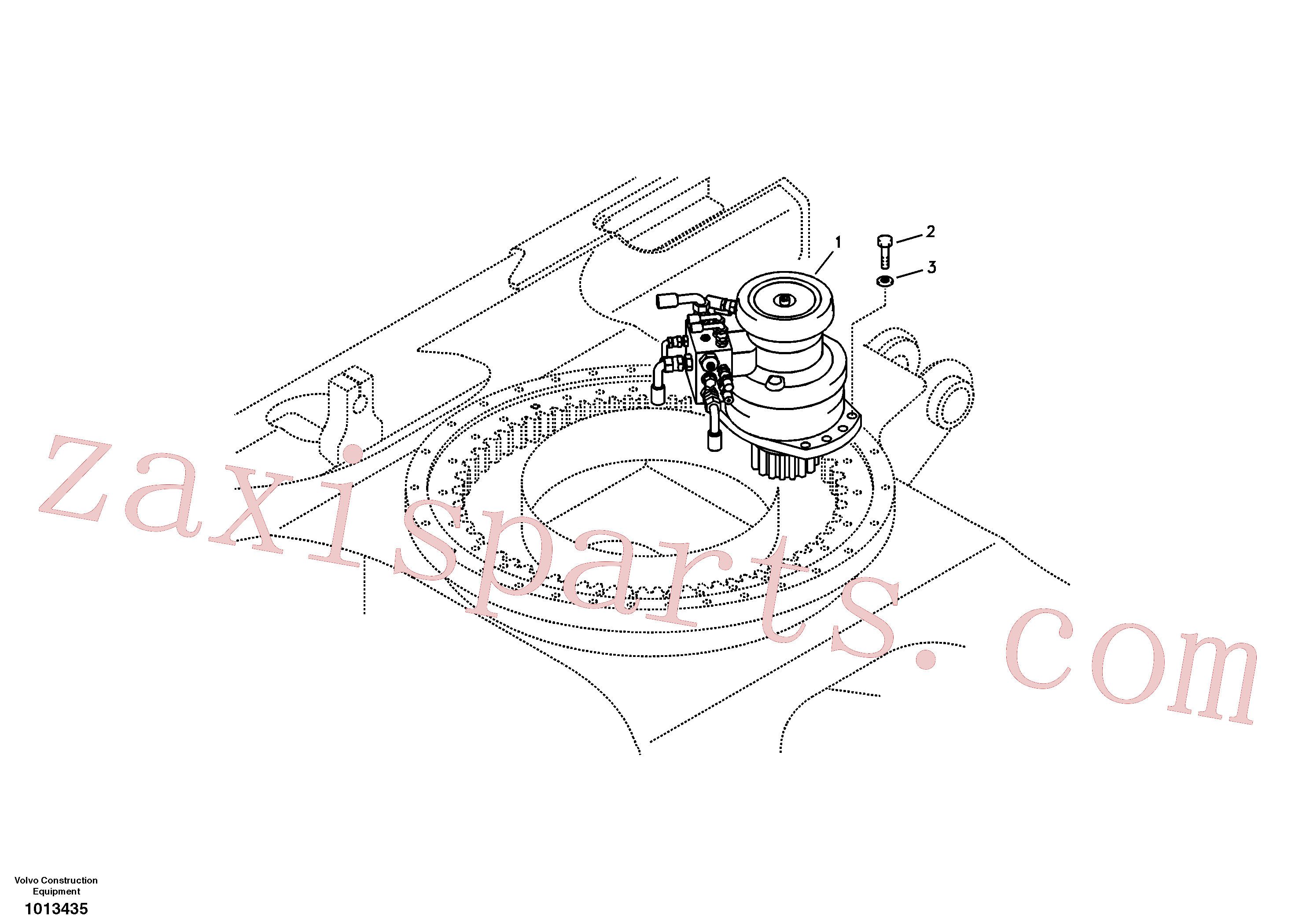 VOE14572717 for Volvo Swing motor with mounting parts(1013435 assembly)