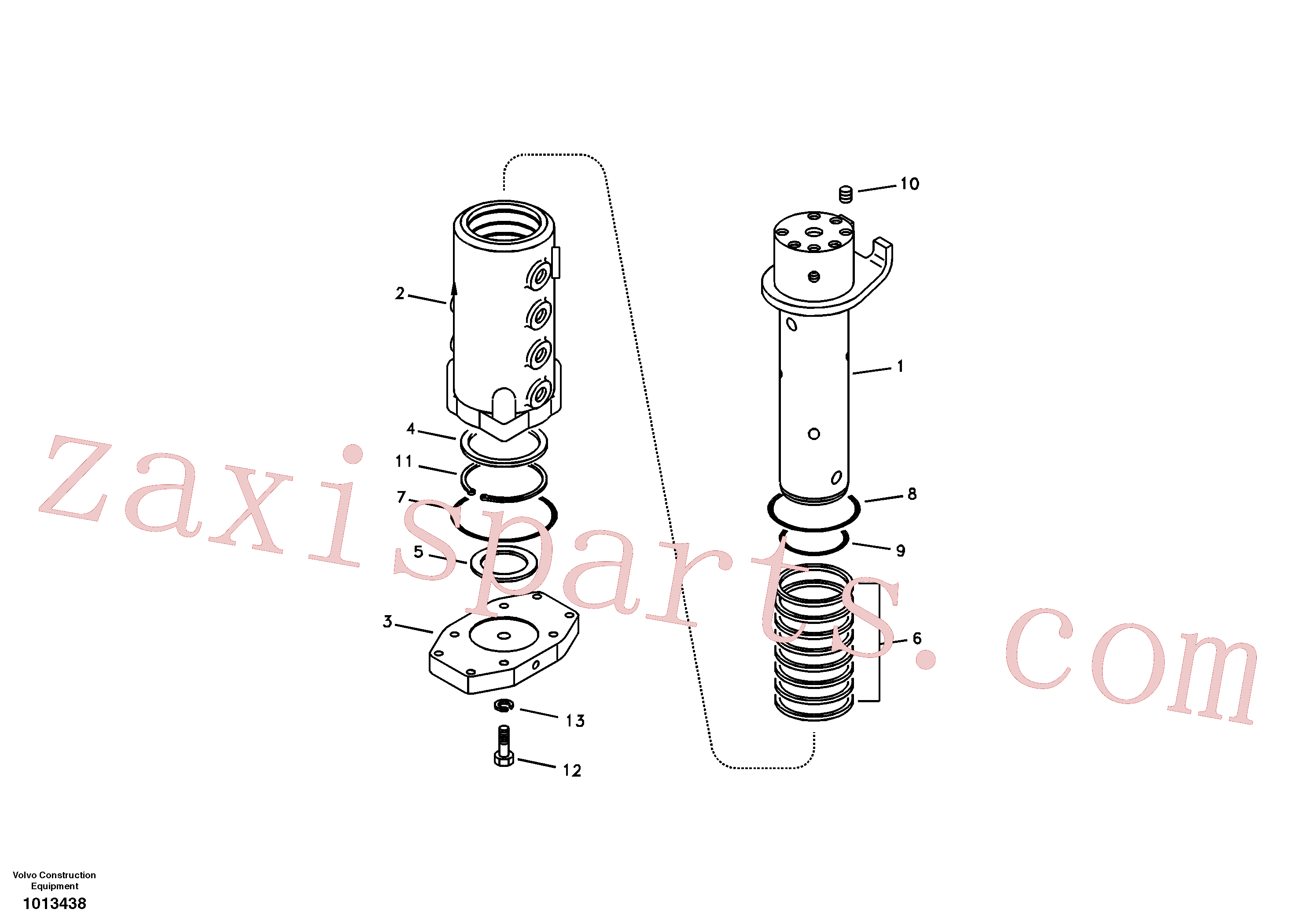 VOE990595 for Volvo Turning joint(1013438 assembly)