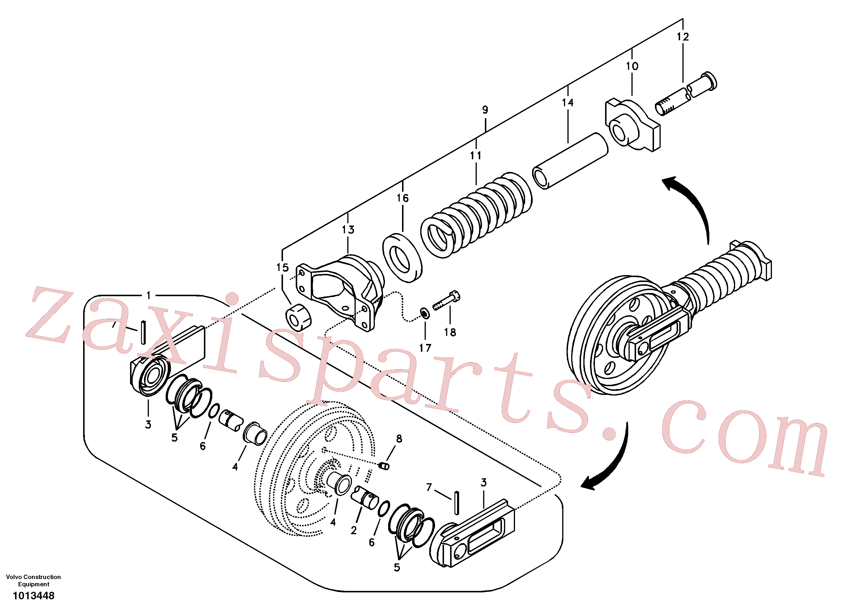 SA9511-22045 for Volvo Front idler(1013448 assembly)