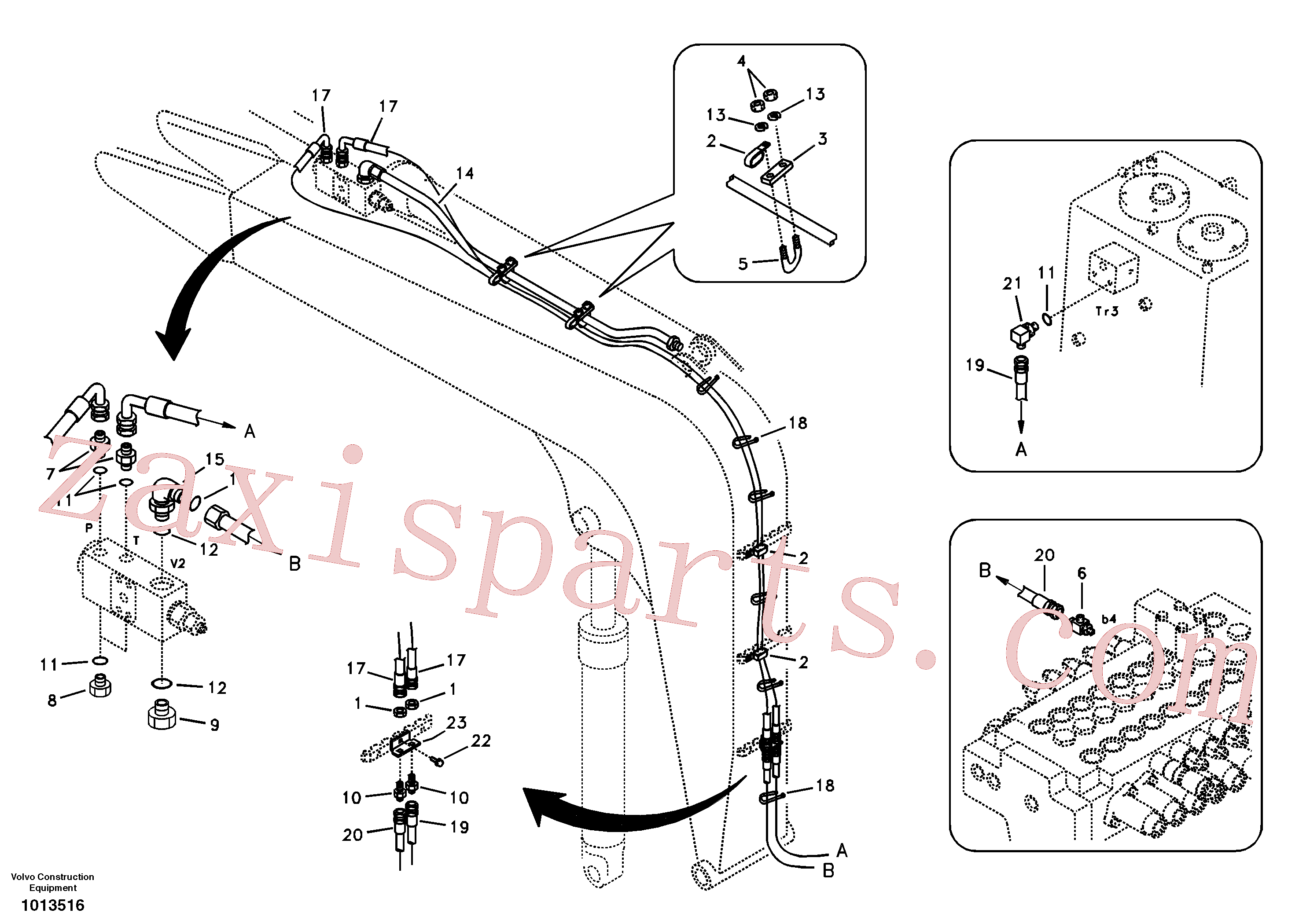 VOE14881394 for Volvo Working hydraulic, dipper arm rupture(1013516 assembly)