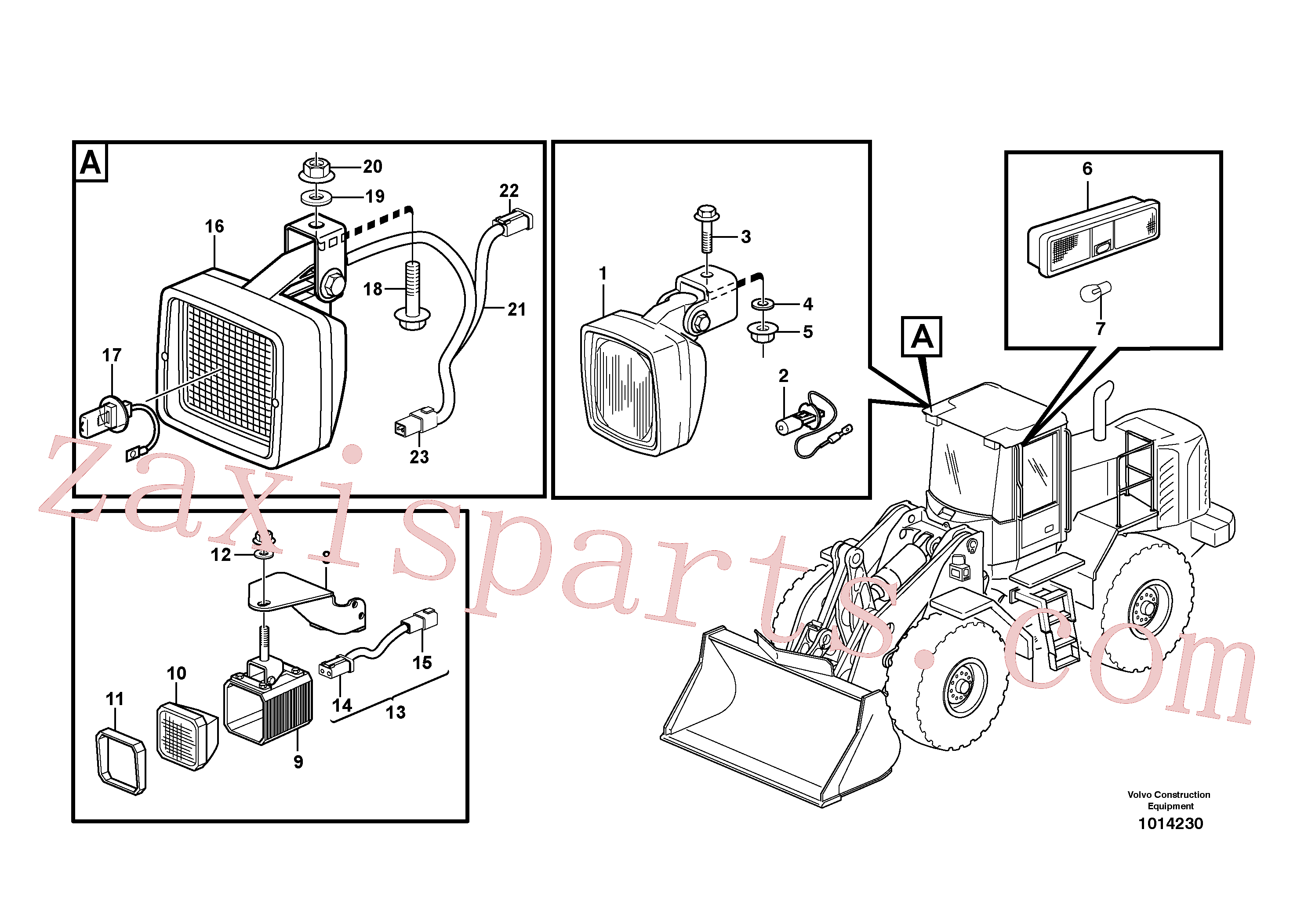 VOE14370761 for Volvo Lighting, cab(1014230 assembly)