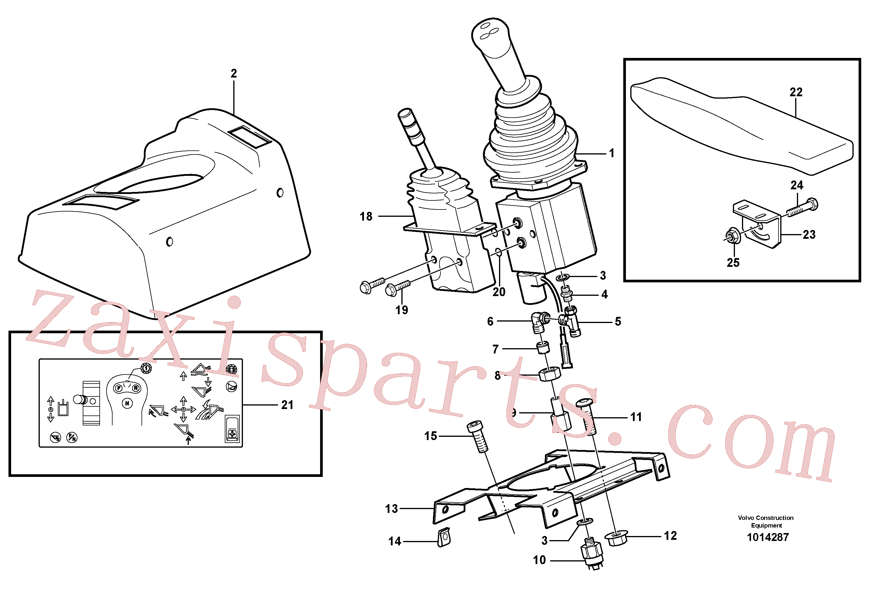 VOE944524 for Volvo Servo valve with fitting parts(1014287 assembly)