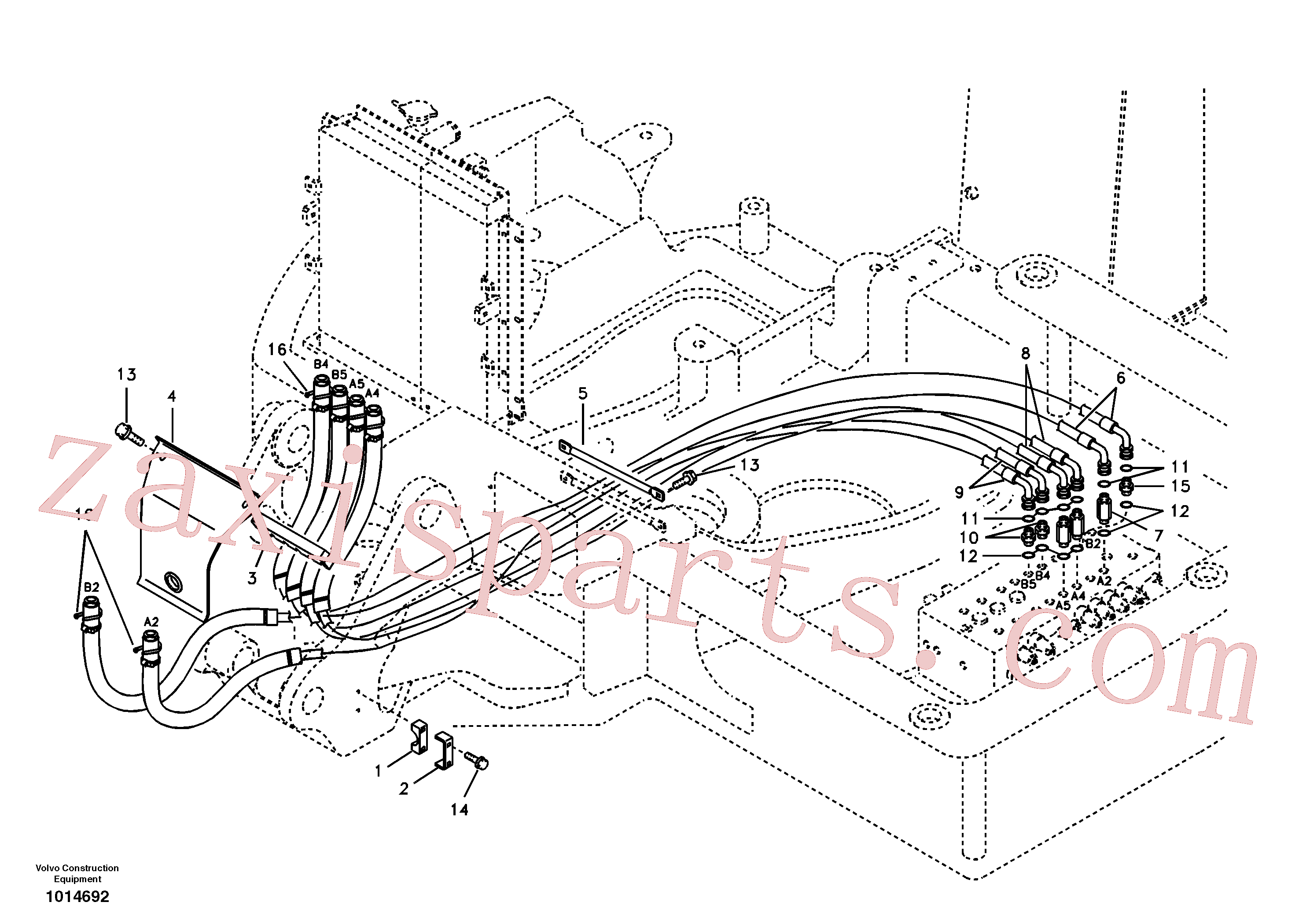 VOE14881330 for Volvo Hydraulic system, attachment line(1014692 assembly)