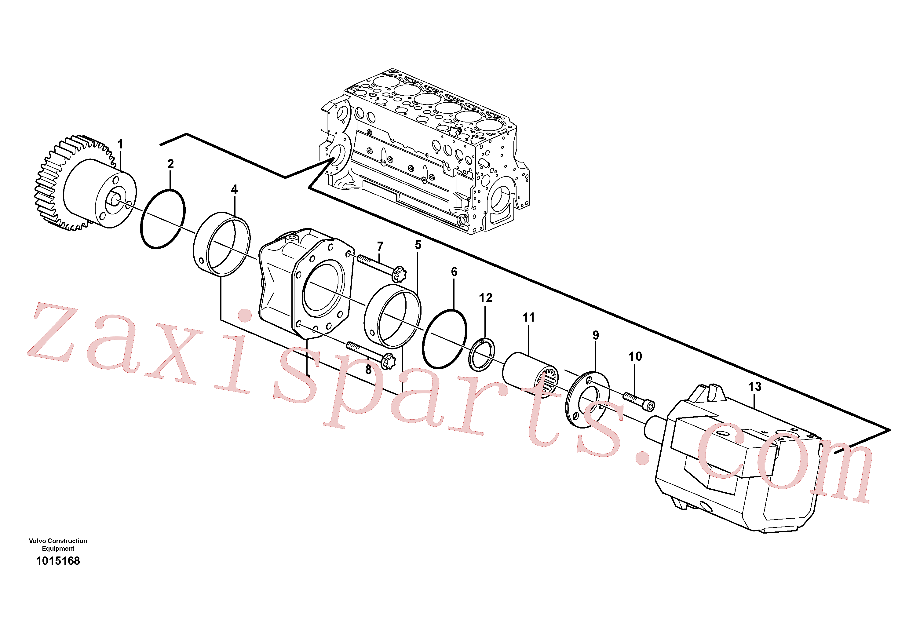 ZM2907358 for Volvo Pump drive power take-off(1015168 assembly)