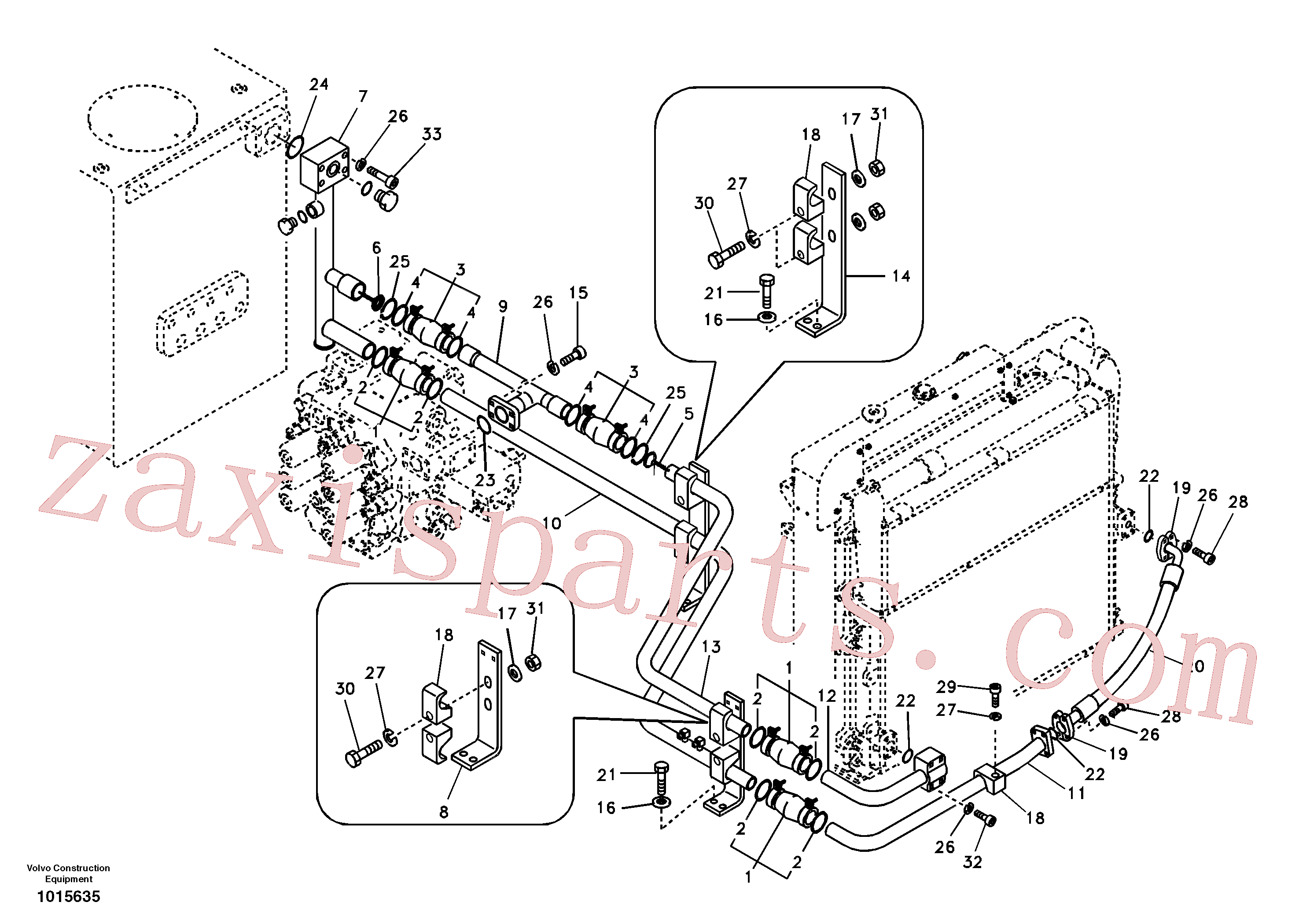 SA9459-04480 for Volvo Hydraulic system, hydraulic tank to hydraulic pump(1015635 assembly)