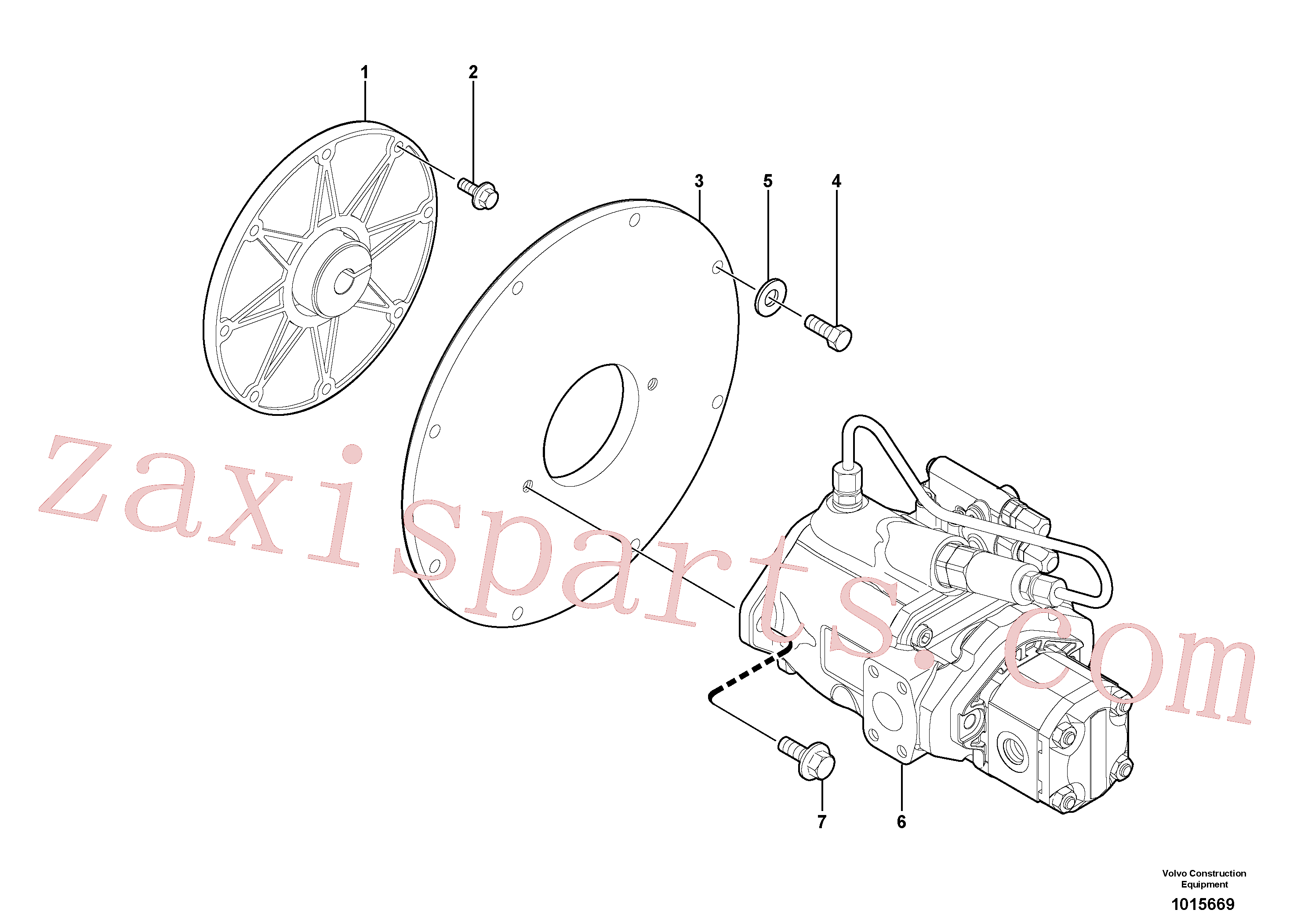 VOE963895 for Volvo Engine coupling / hydraulic pump(1015669 assembly)