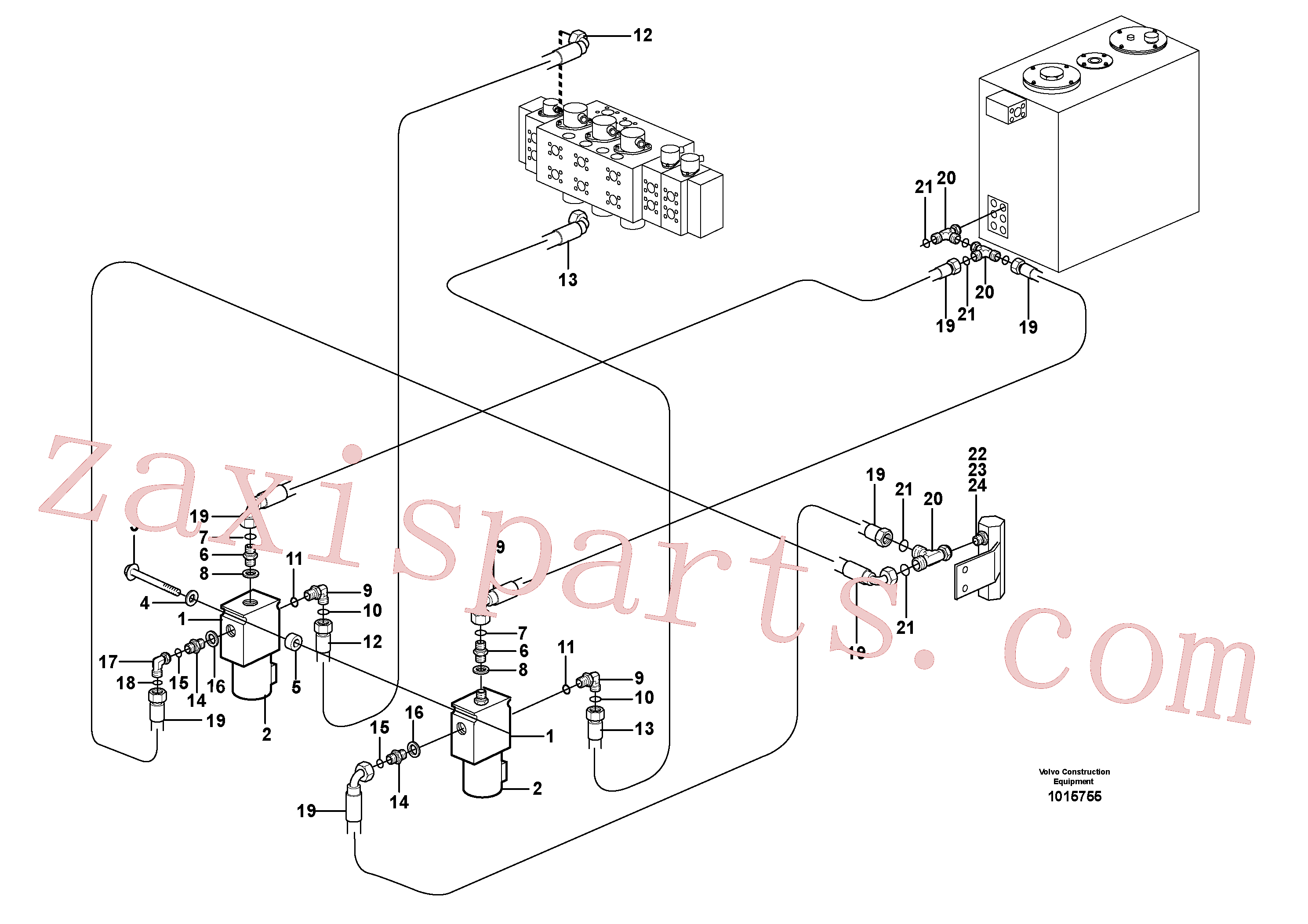 VOE13933902 for Volvo Hydraulic function, X1. A&b On Off(1015755 assembly)