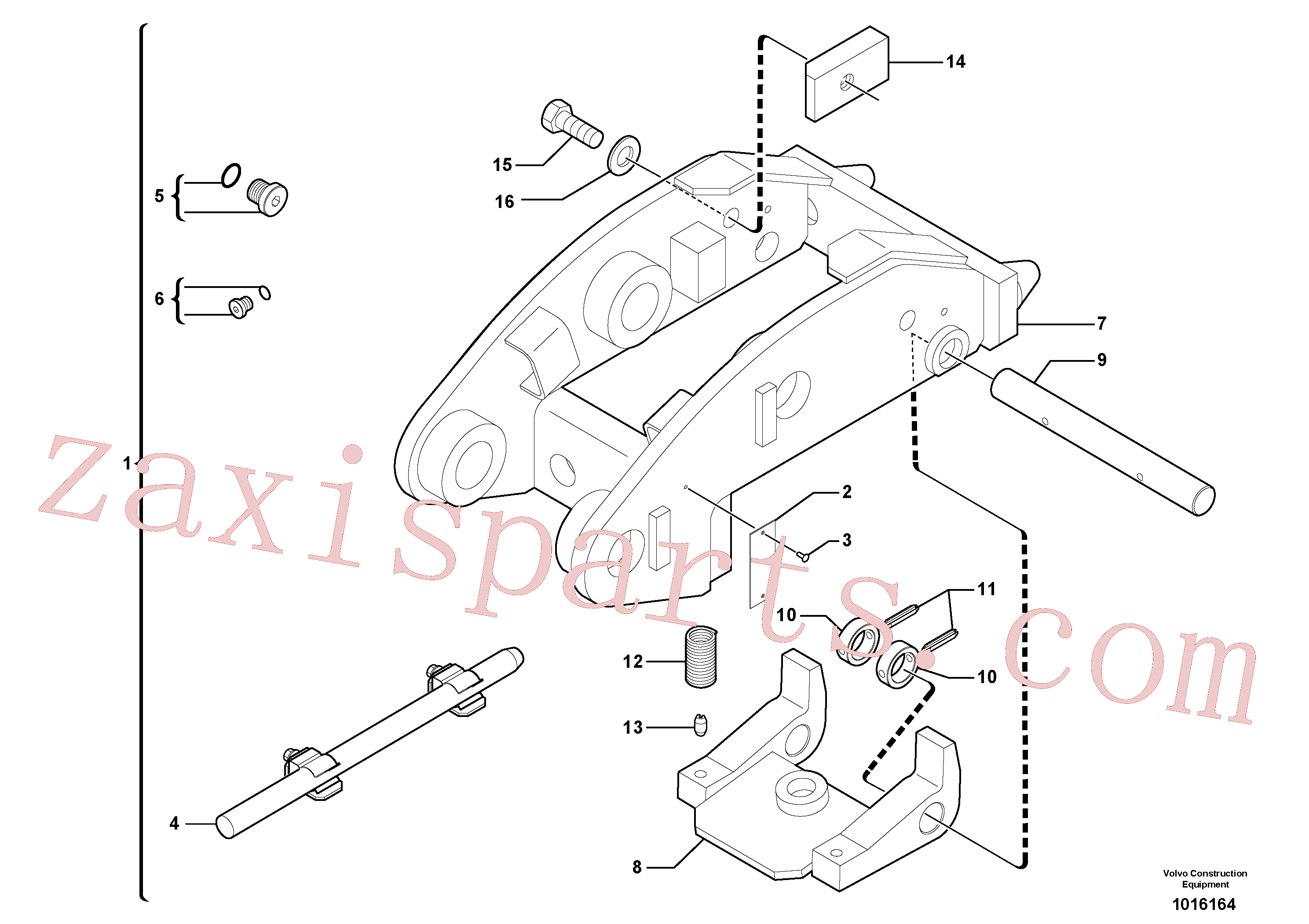 VOE11803974 for Volvo Tool holder / mechanical control(1016164 assembly)