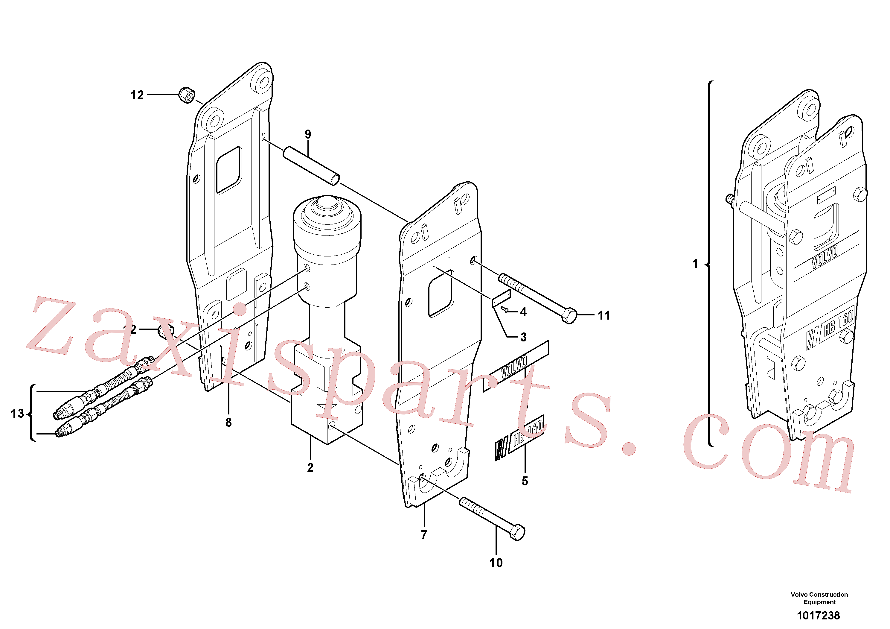 VOE11801322 for Volvo Hammer(1017238 assembly)