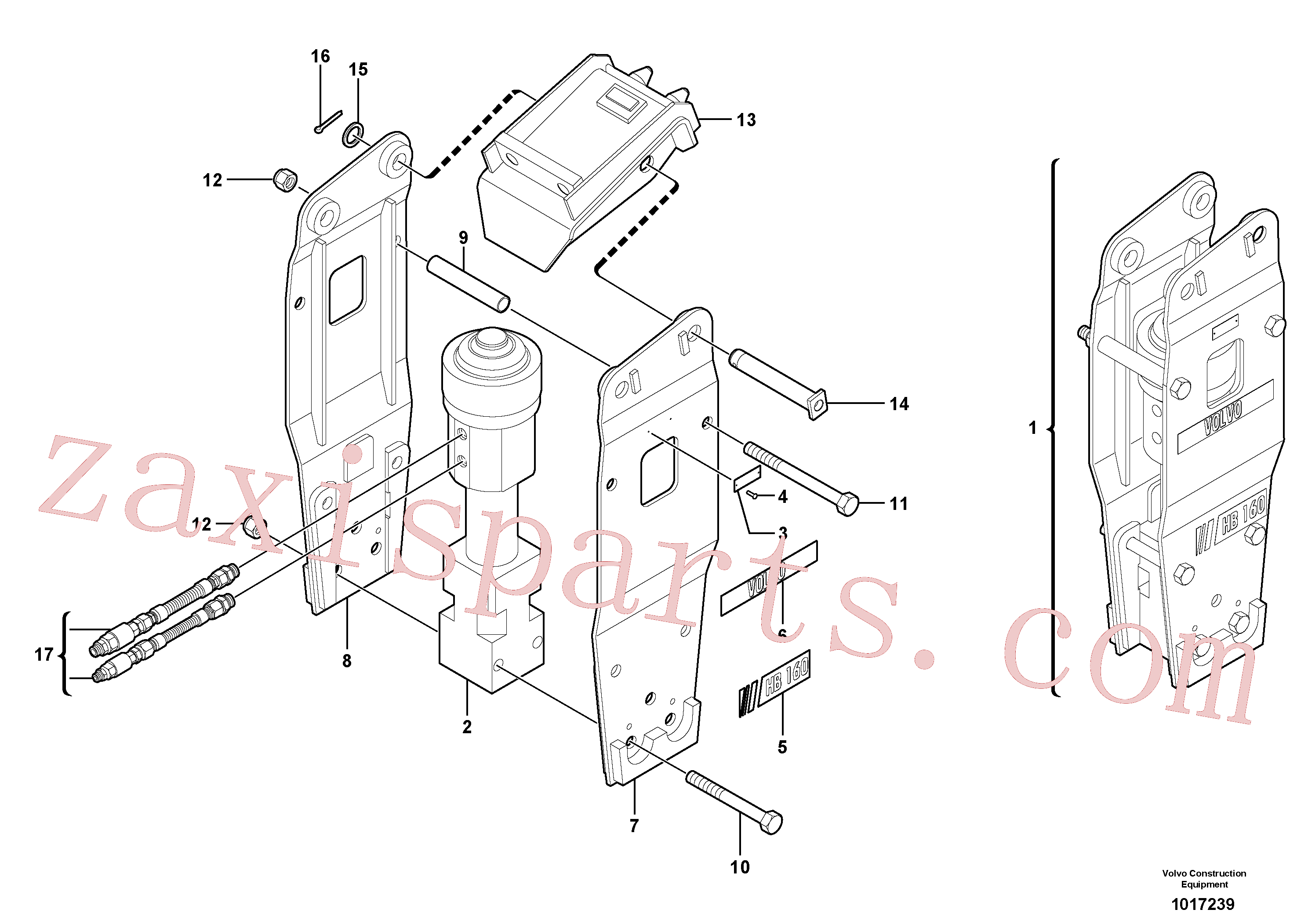 VOE11801322 for Volvo Hammer for Quickfit(1017239 assembly)
