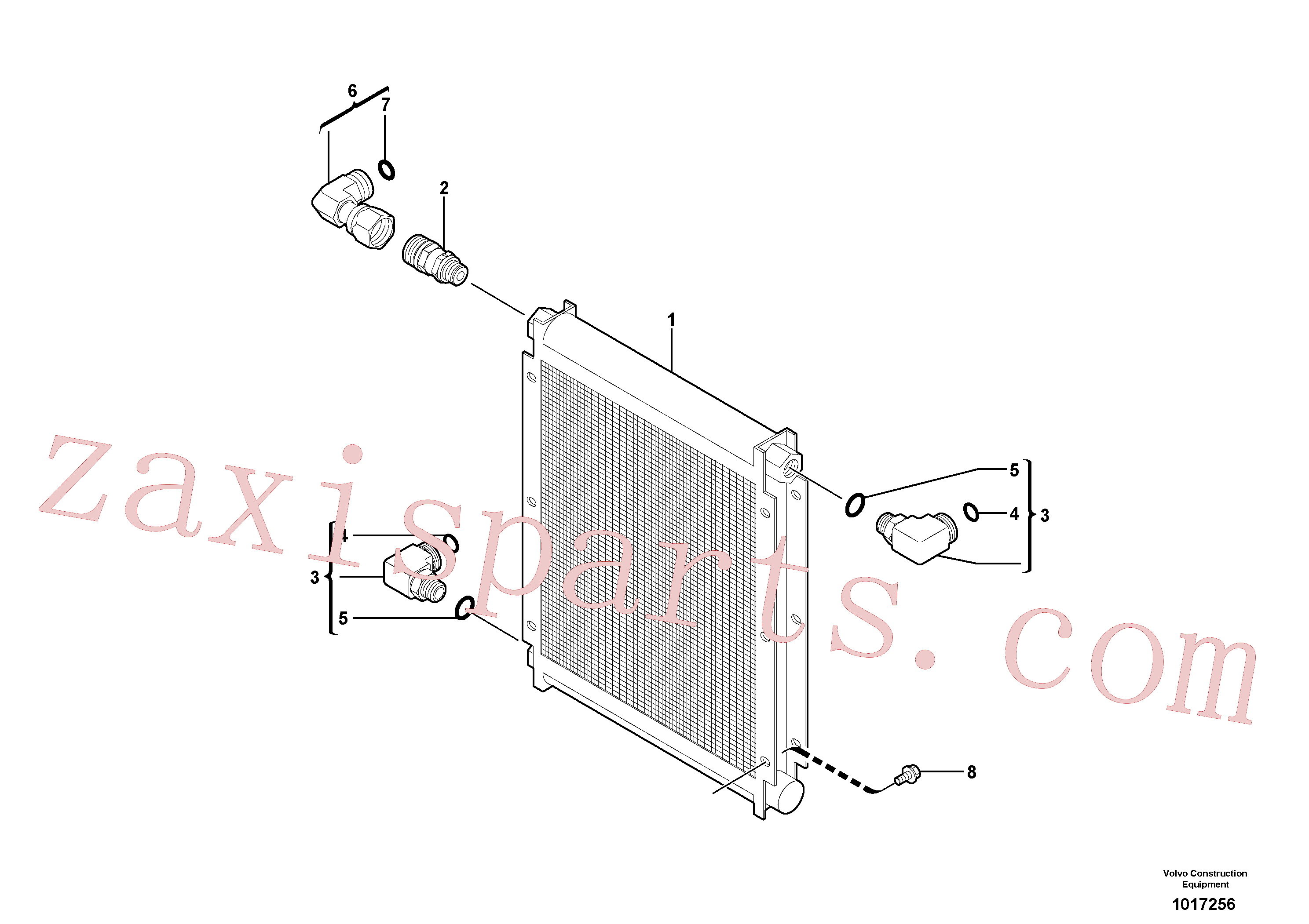 VOE11802569 for Volvo Cooling system: oil cooler(1017256 assembly)