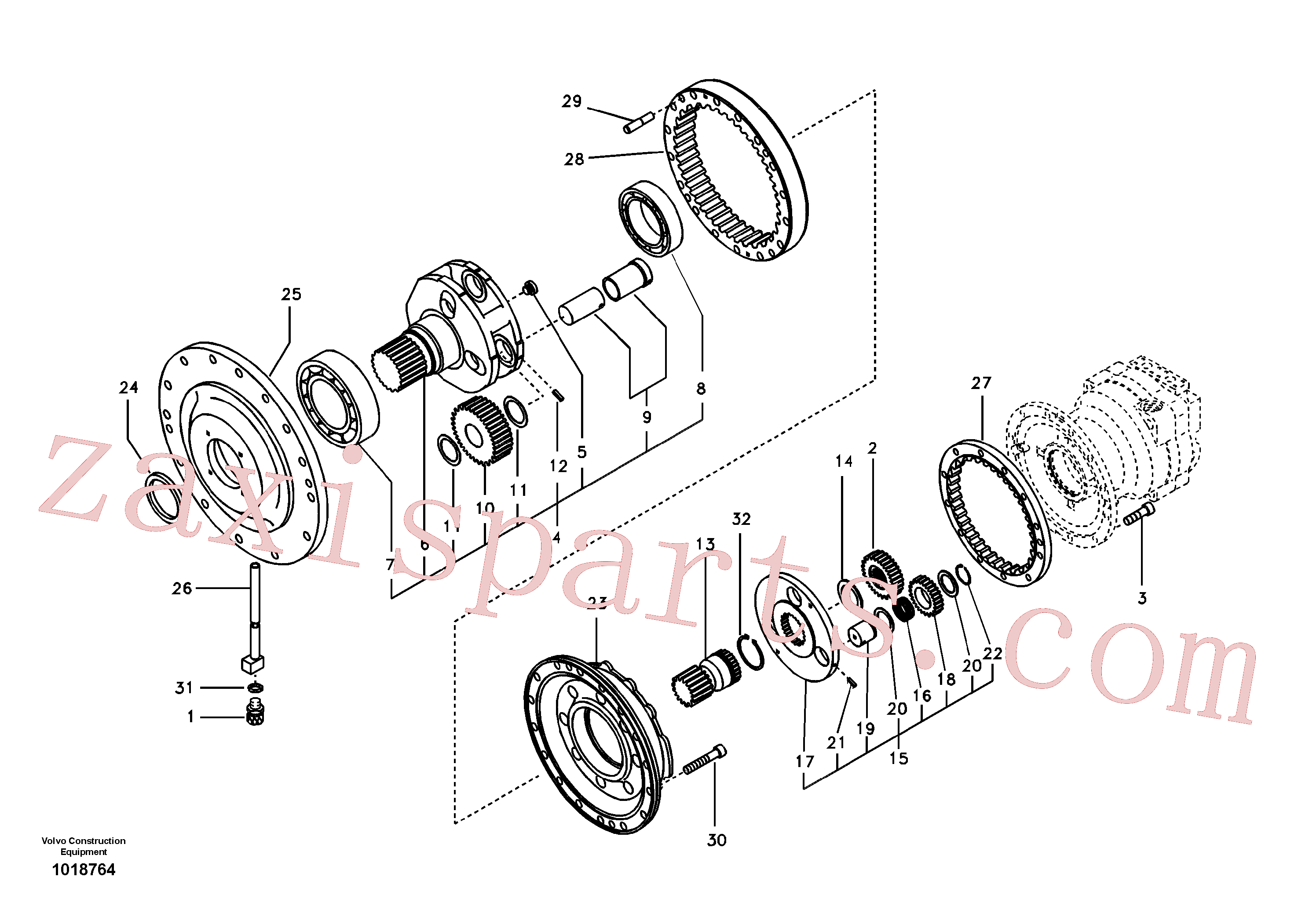 VOE14526227 for Volvo Swing gearbox(1018764 assembly)