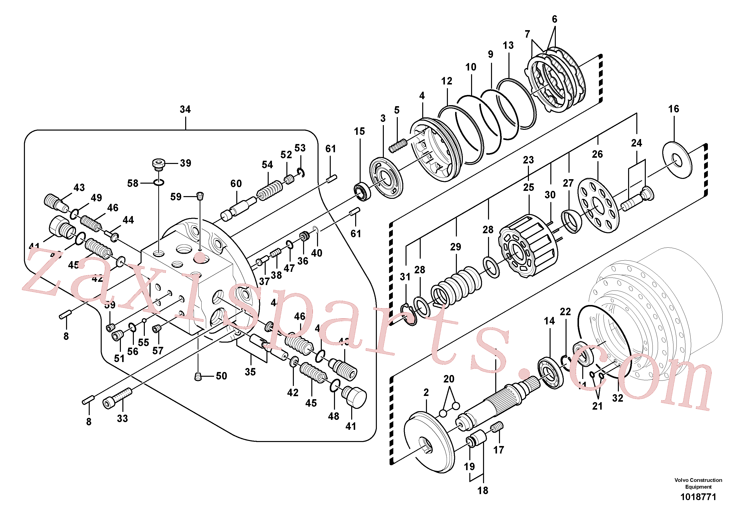 SA8230-30660 for Volvo Travel motor(1018771 assembly)
