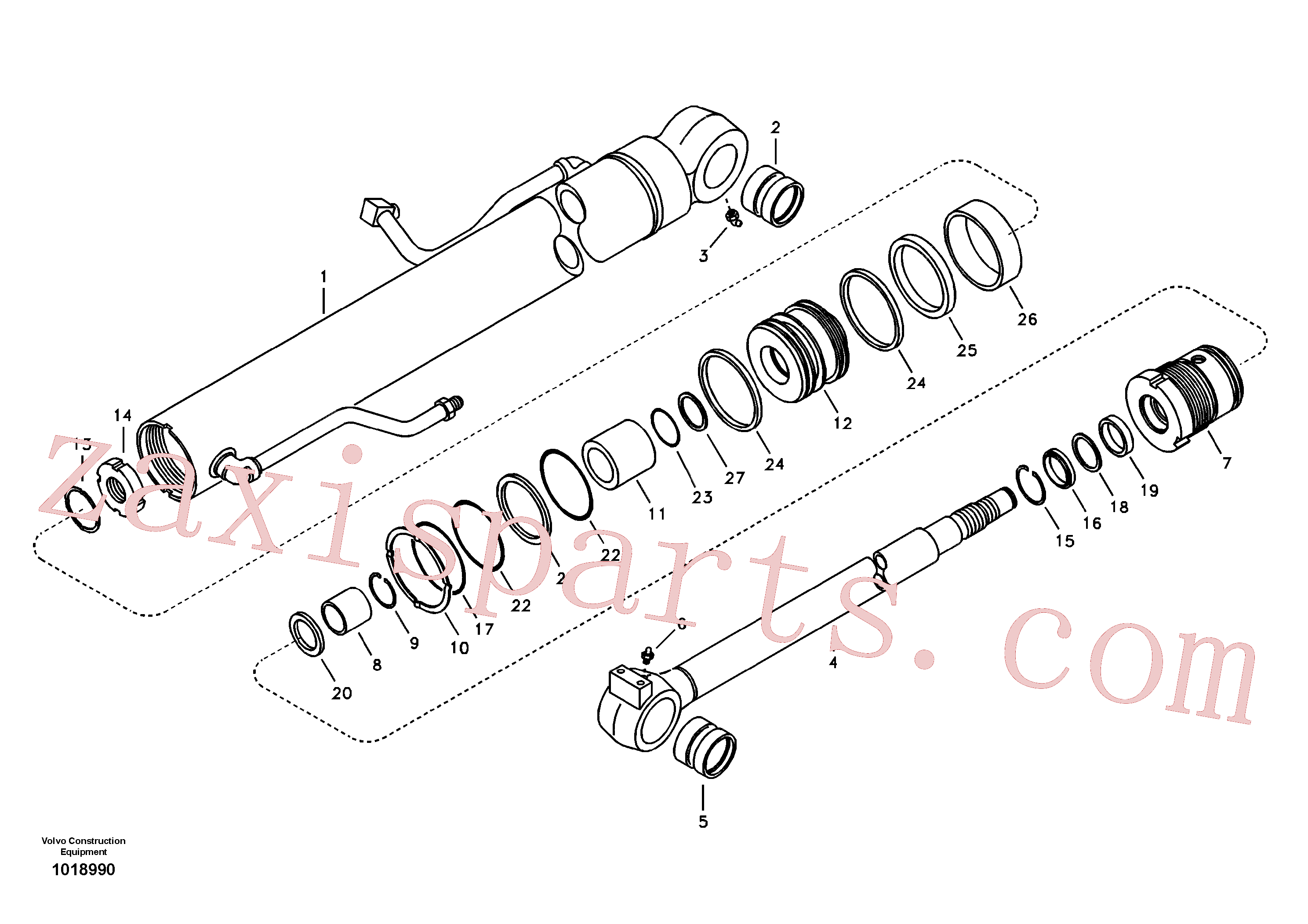 VOE14535605 for Volvo Boom cylinder(1018990 assembly)