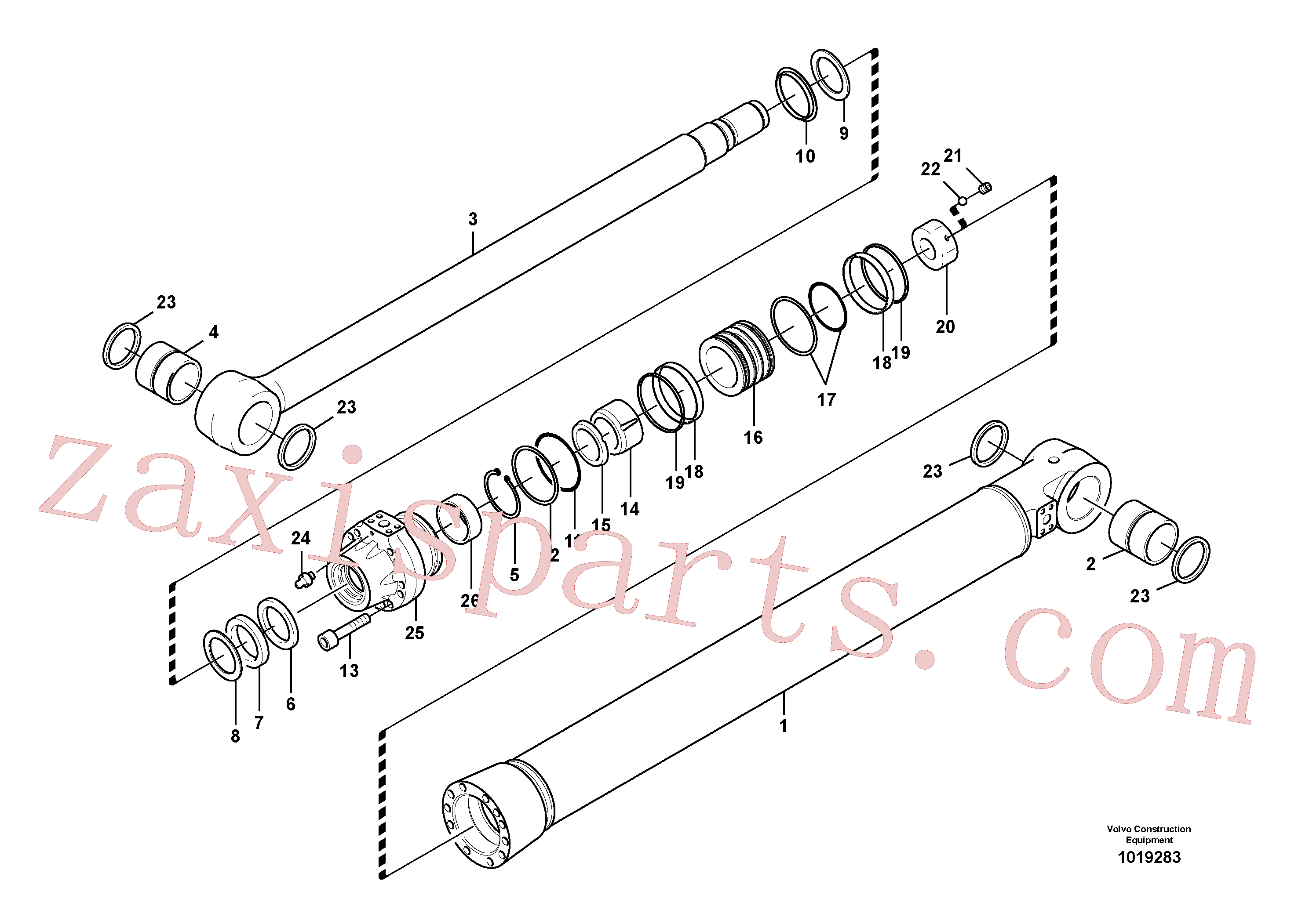 VOE14542019 for Volvo Boom cylinder(1019283 assembly)