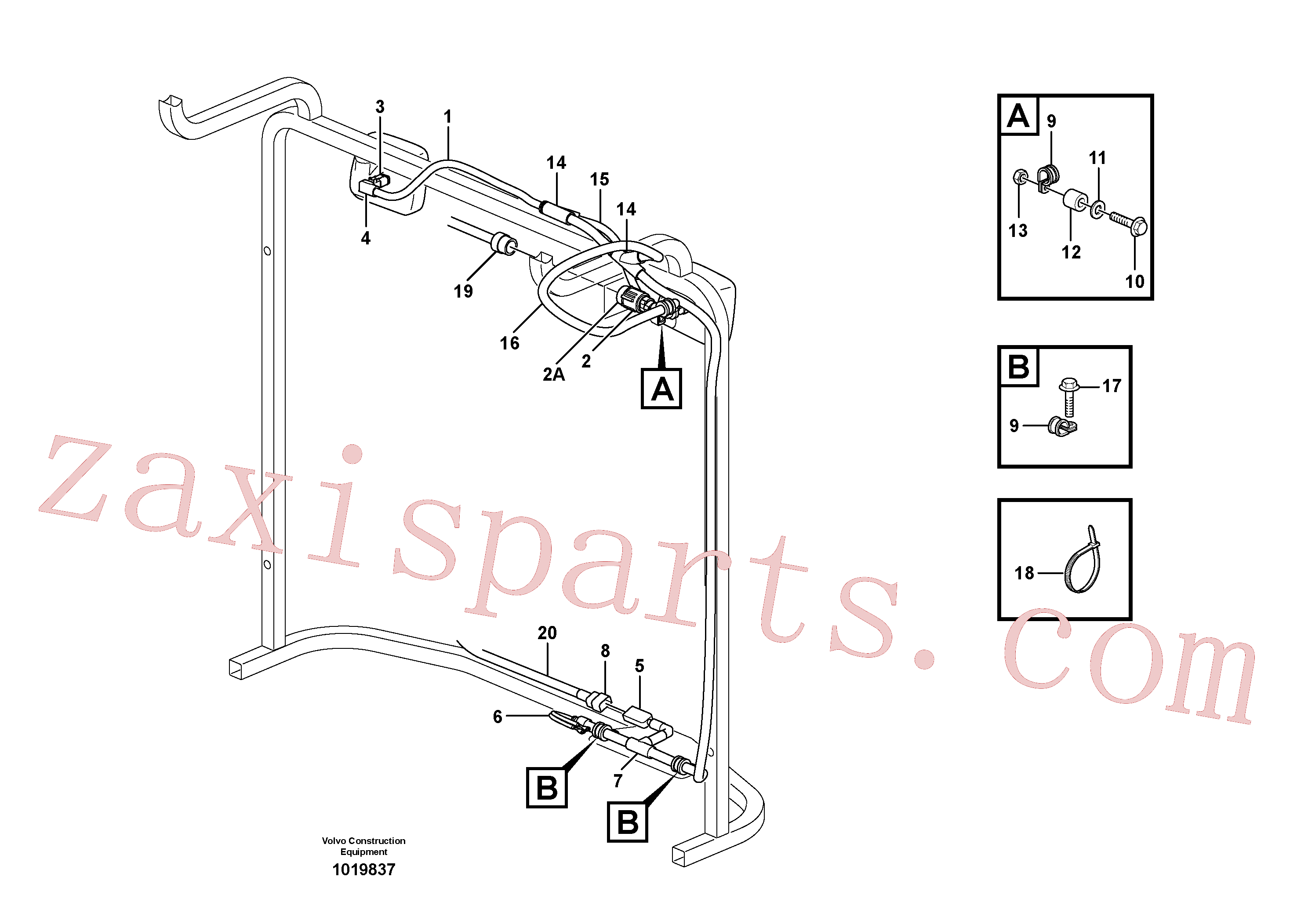 VOE11170006 for Volvo Cable harness, radiator(1019837 assembly)