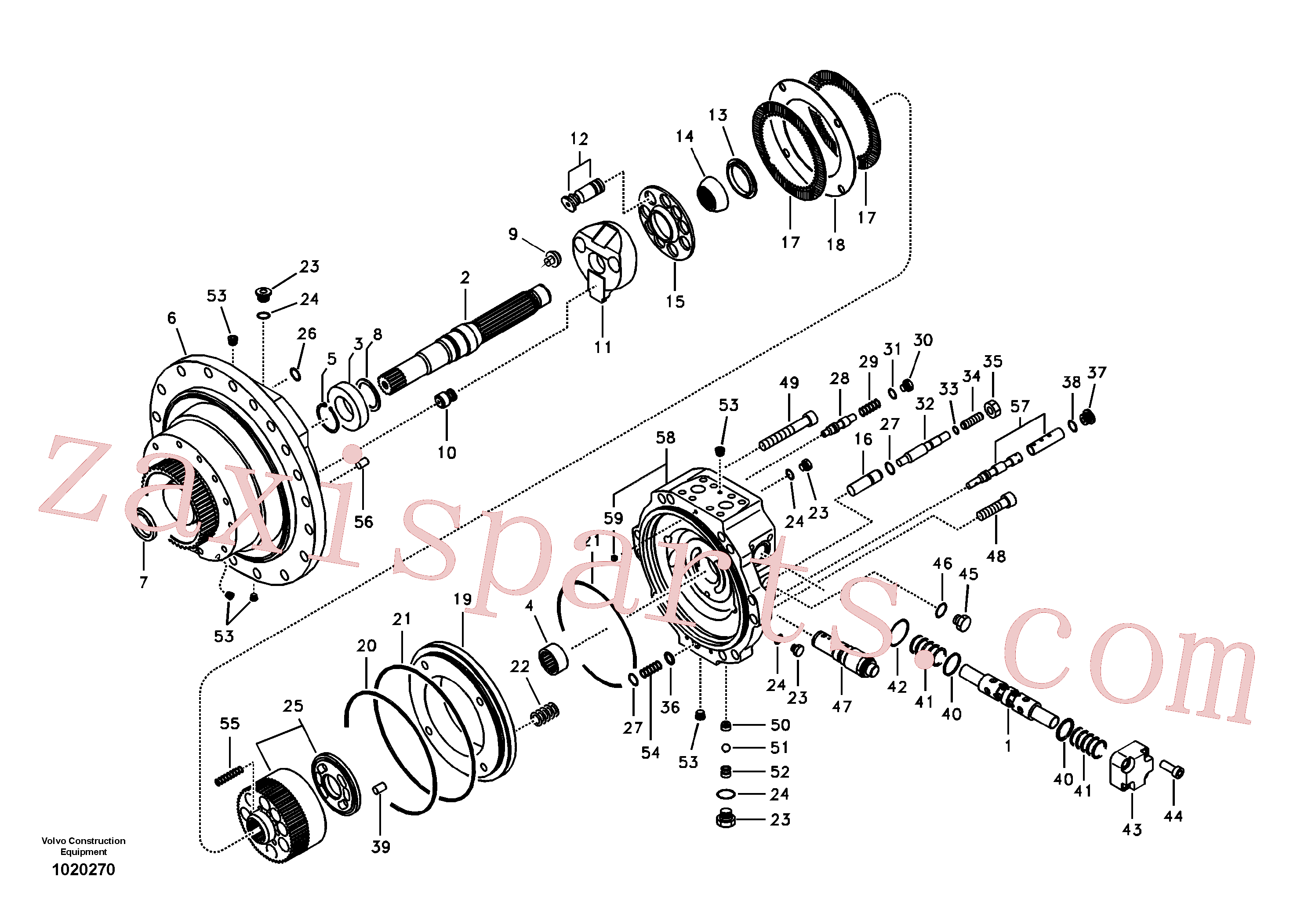SA7242-10710 for Volvo Travel motor(1020270 assembly)