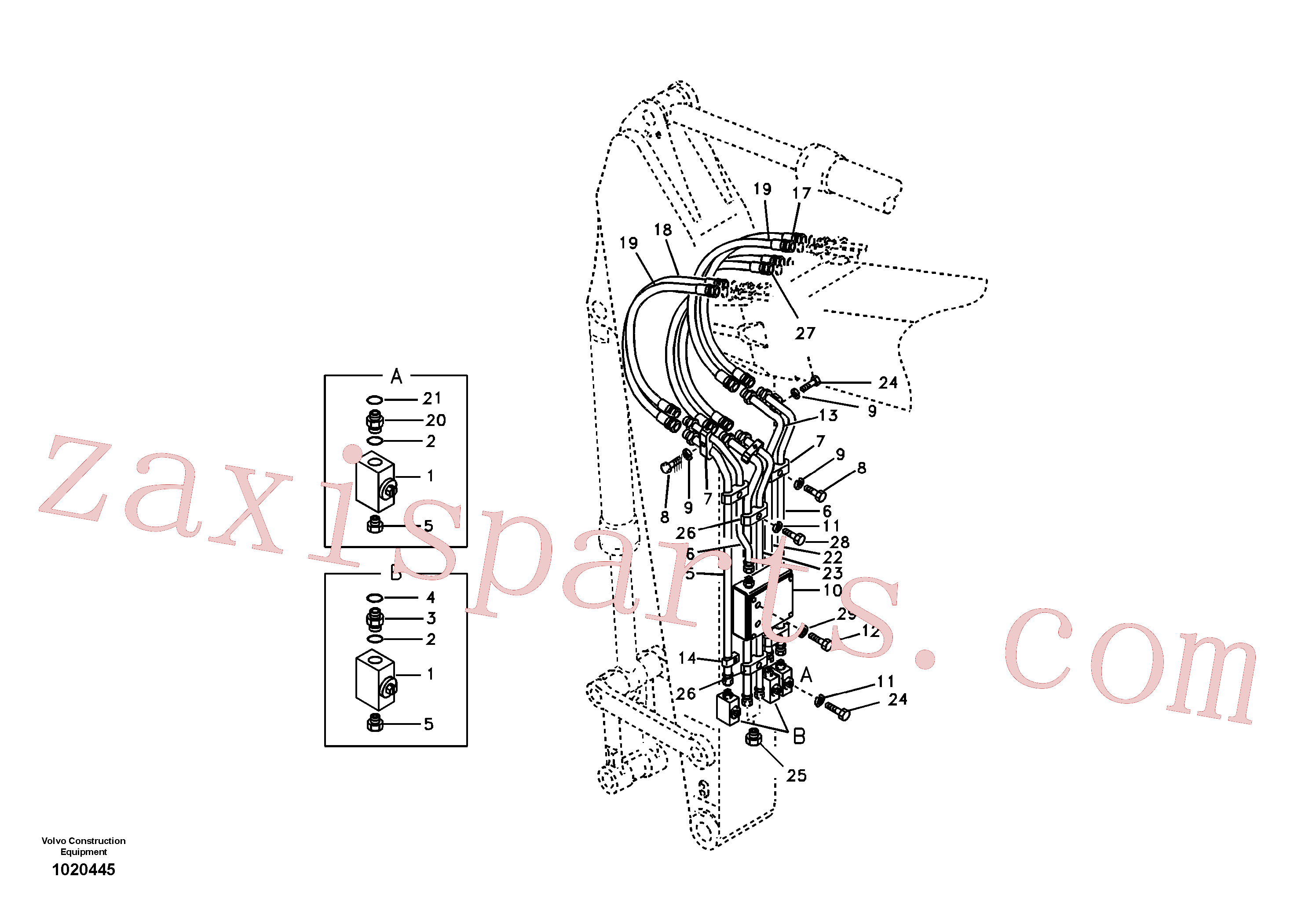 SA14511962 for Volvo Working hydraulic, Forestry(1020445 assembly)