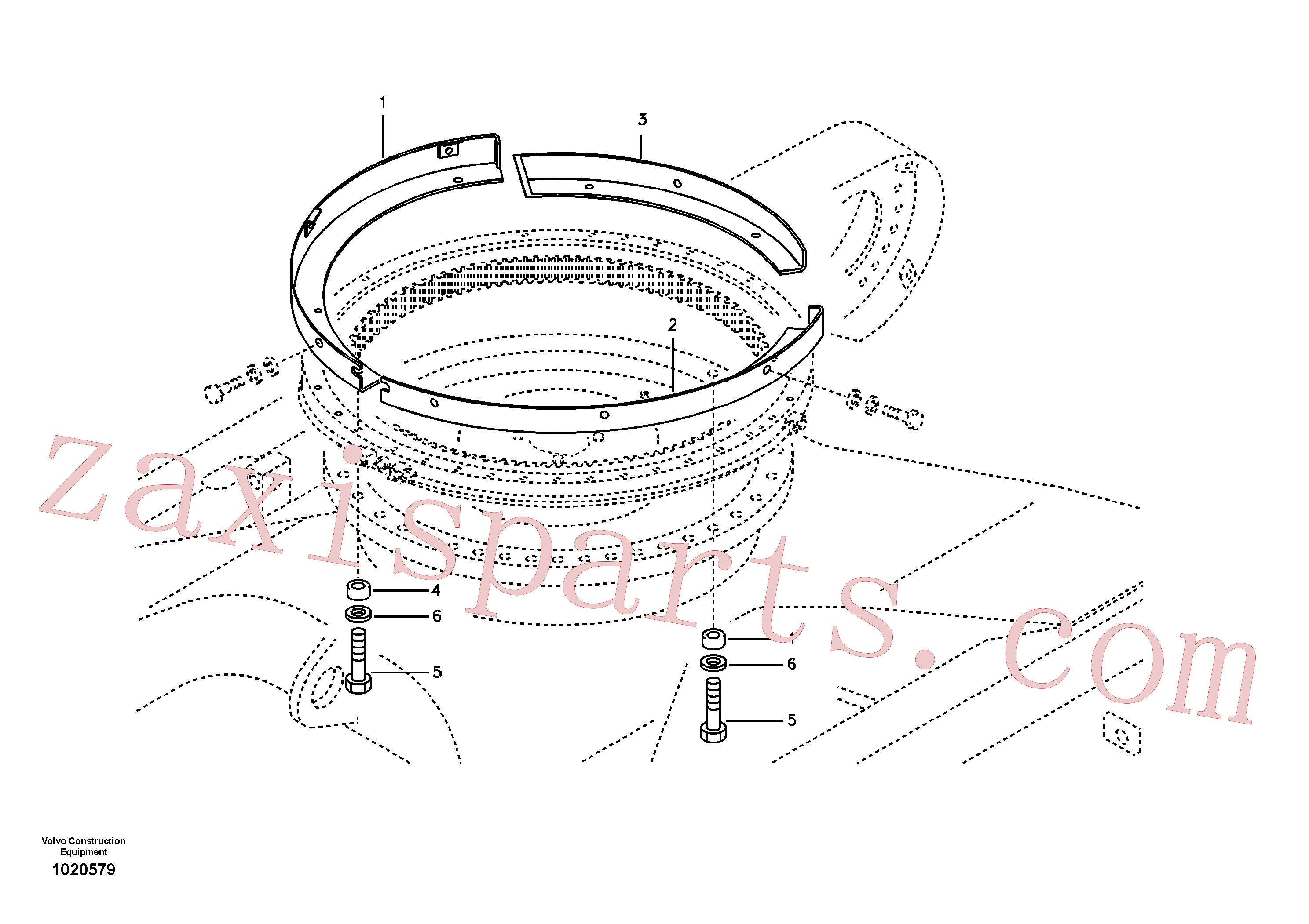VOE14533720 for Volvo Cover, Swing gear(1020579 assembly)