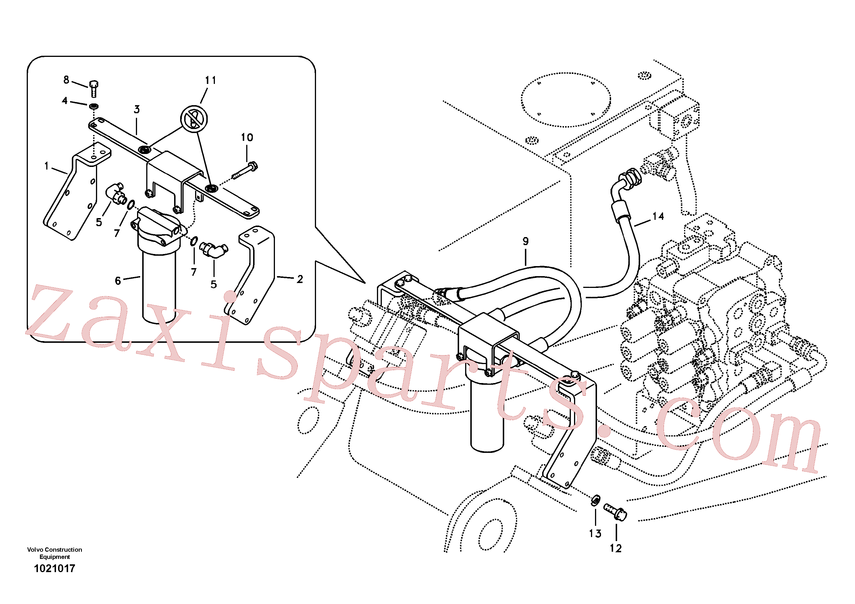 VOE14536063 for Volvo Working hydraulic, hammer and shear for return filter(1021017 assembly)