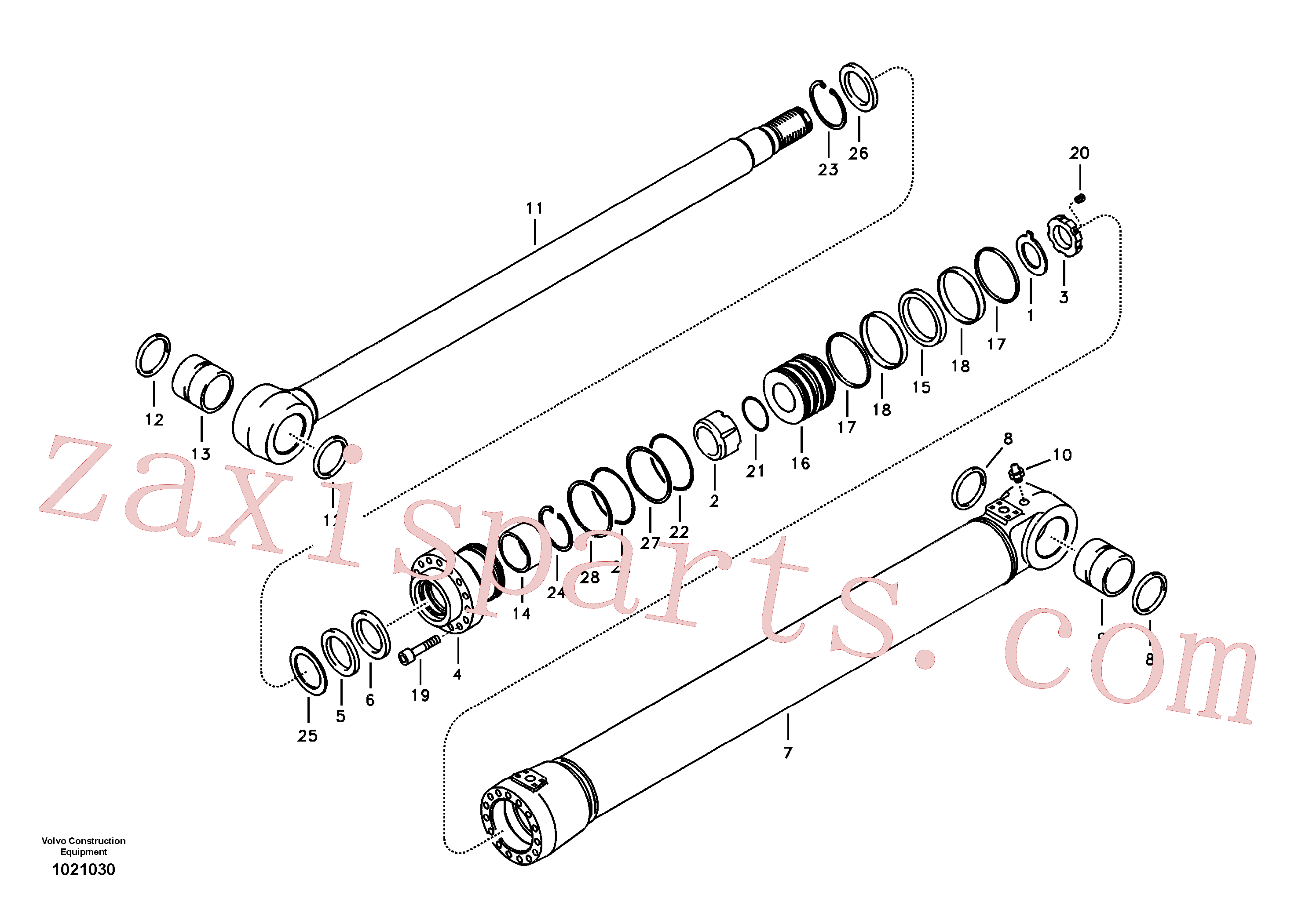 SA1146-00820 for Volvo Boom cylinder(1021030 assembly)