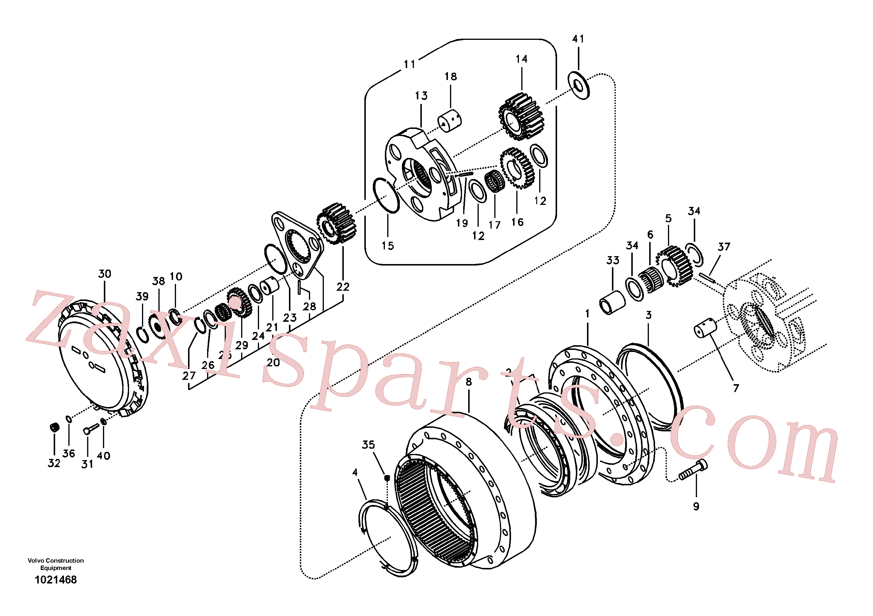 SA9541-01038 for Volvo Travel gearbox(1021468 assembly)