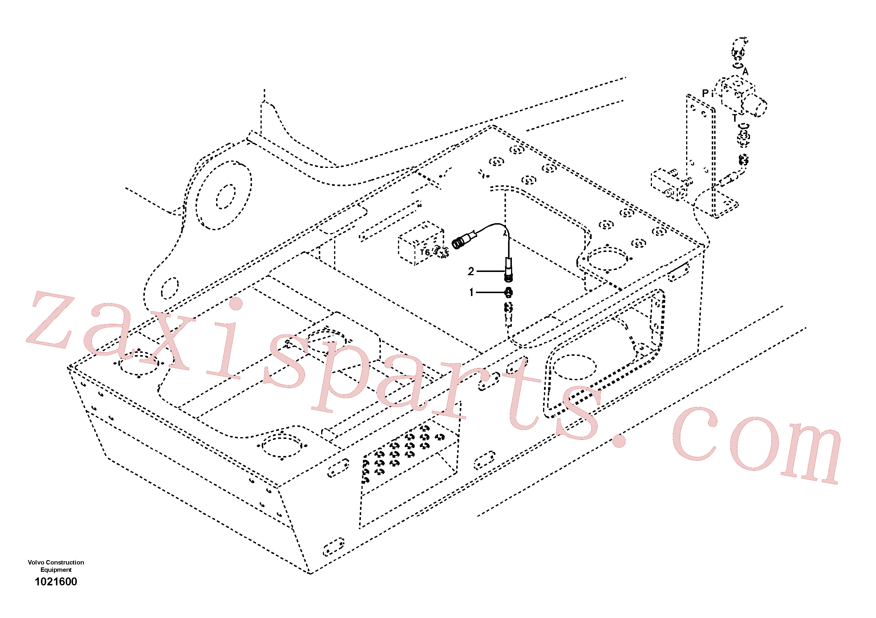 SA9416-11021 for Volvo Servo system, control valve piping.(1021600 assembly)