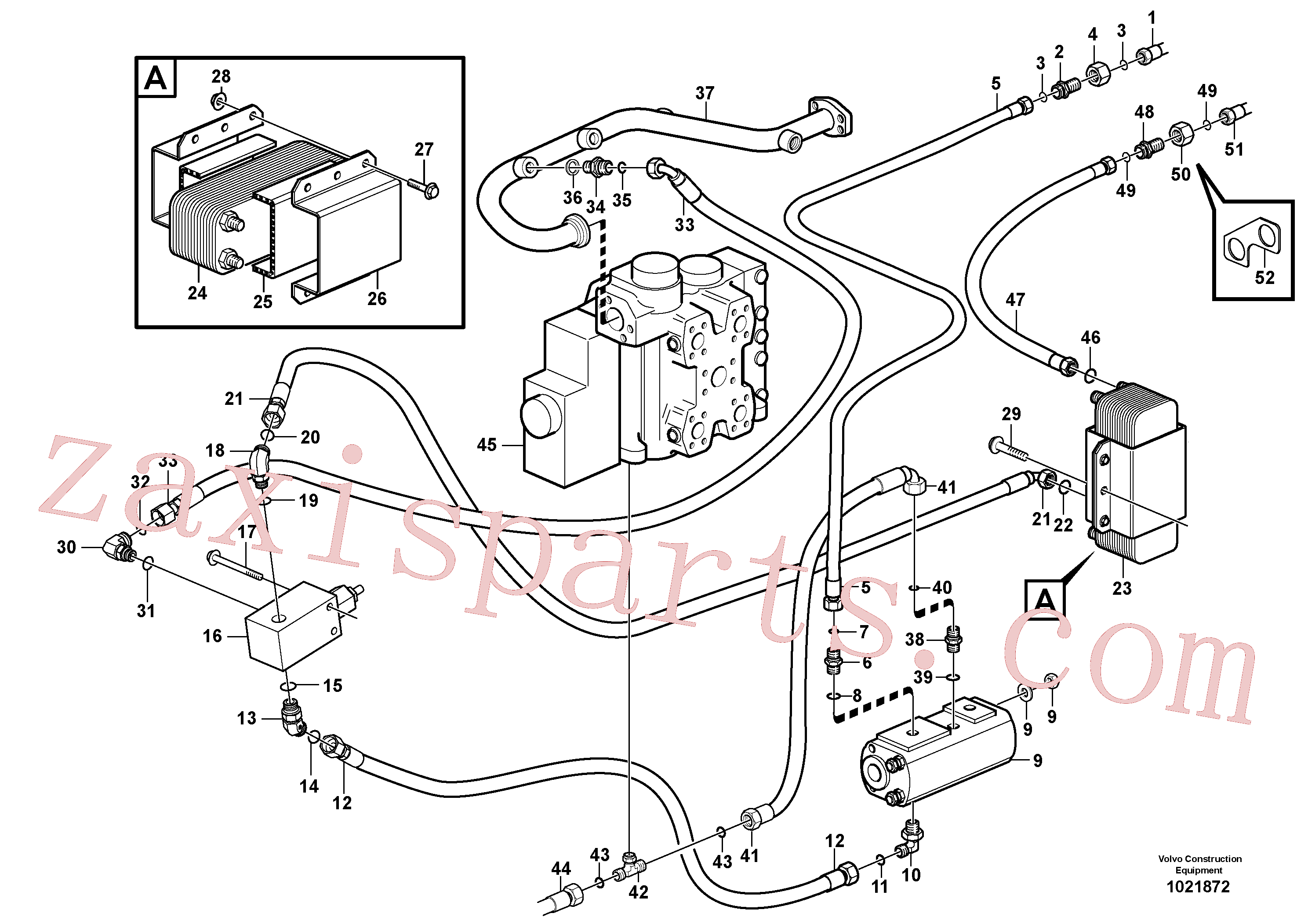 VOE935038 for Volvo Oil cooler, forward, motor circuit.(1021872 assembly)