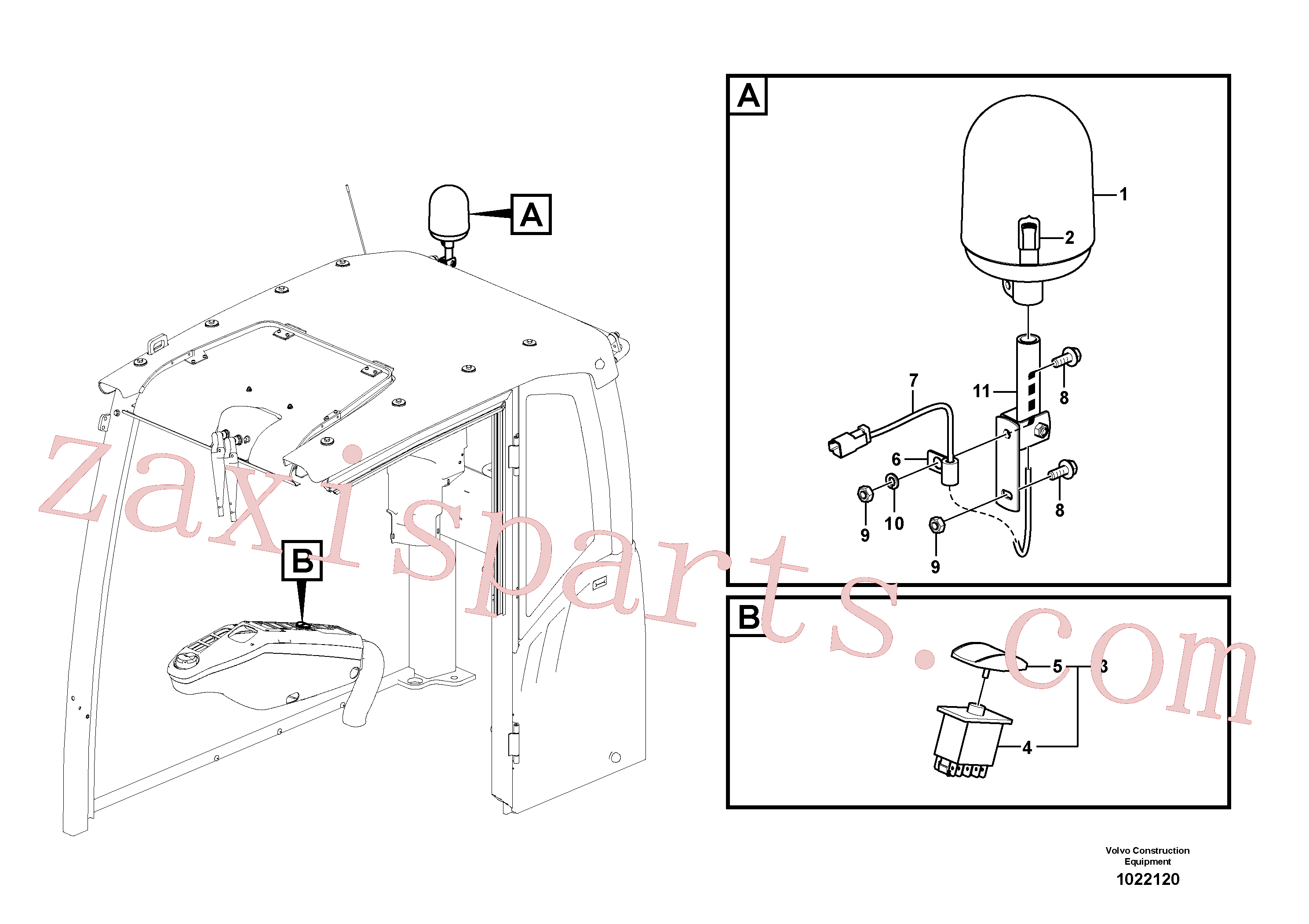 VOE14560656 for Volvo Rotating beacon(1022120 assembly)