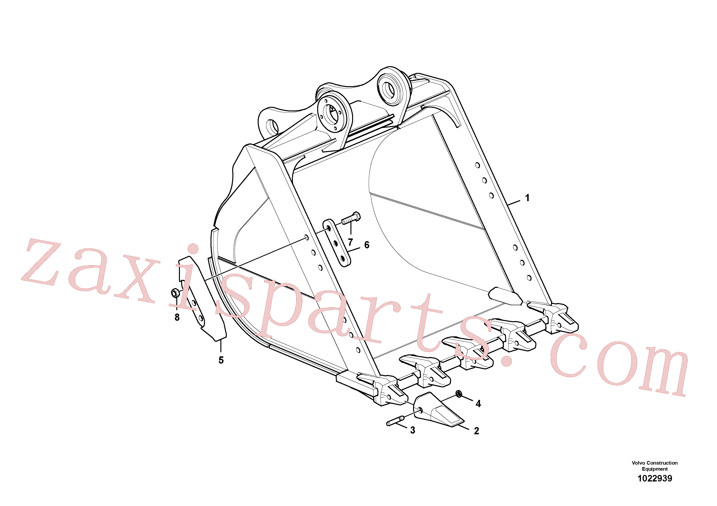 VOE14540729 for Volvo Bucket(1022939 assembly)
