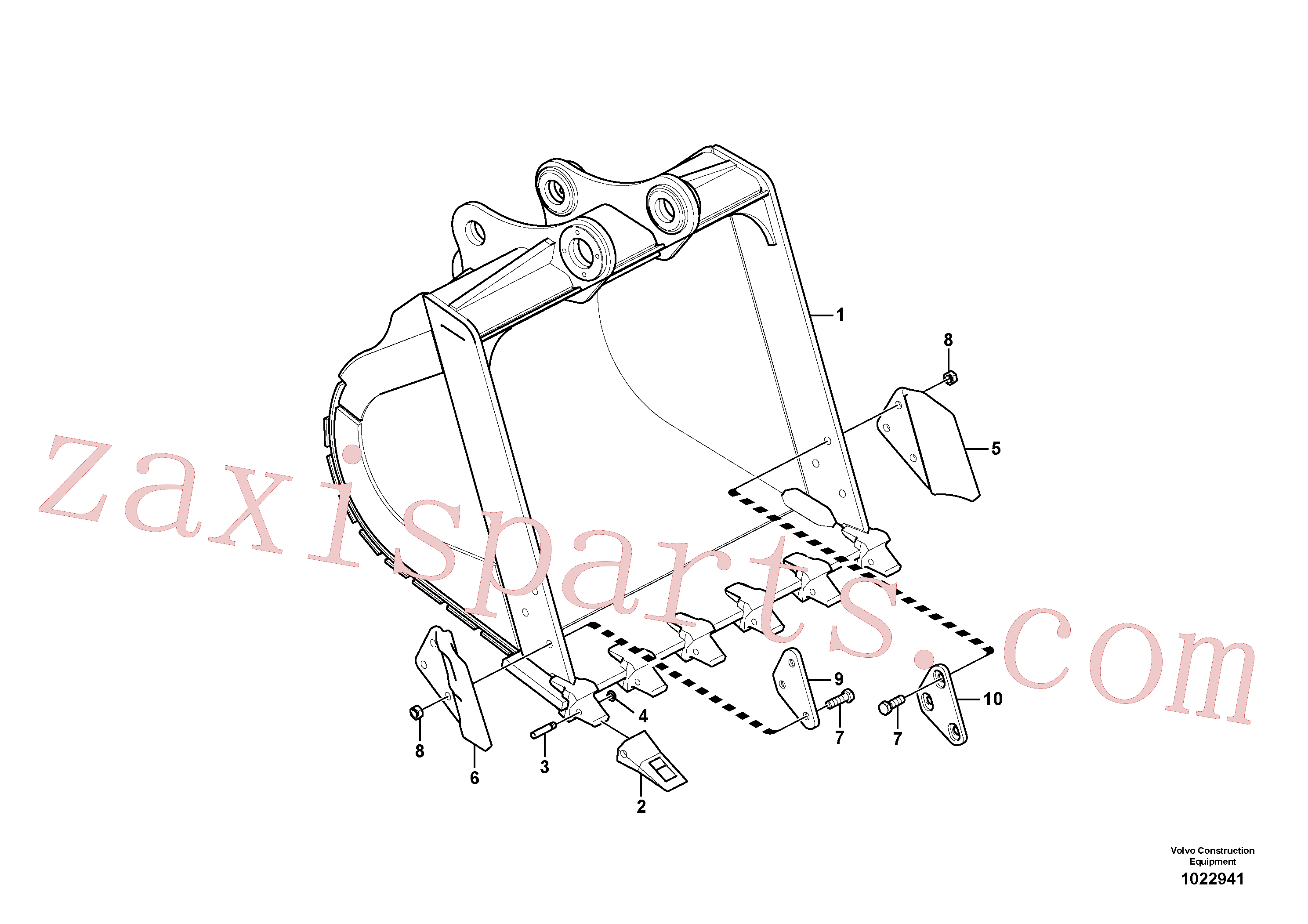 VOE14880576 for Volvo Bucket(1022941 assembly)