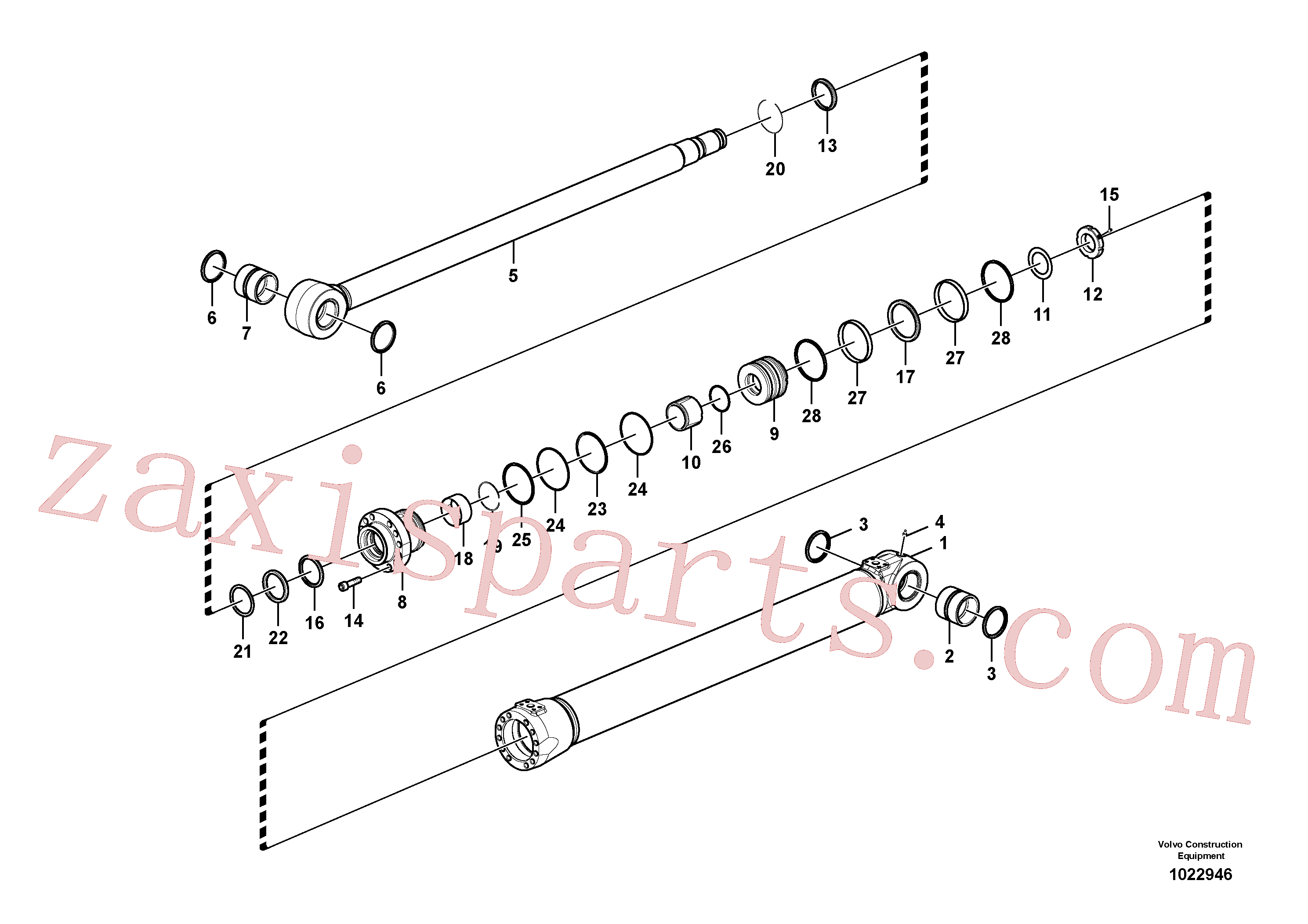 VOE14558345 for Volvo Boom cylinder(1022946 assembly)