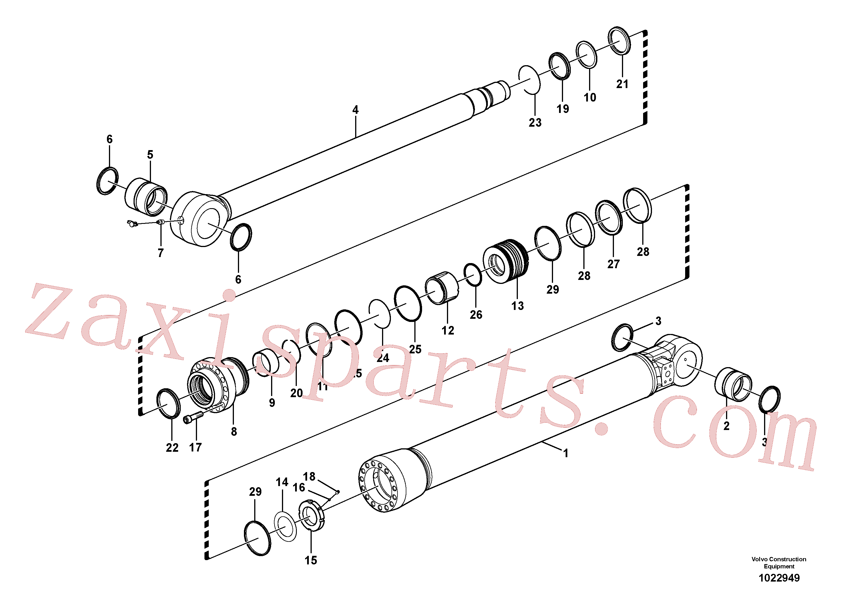 SA1146-00820 for Volvo Bucket cylinder(1022949 assembly)