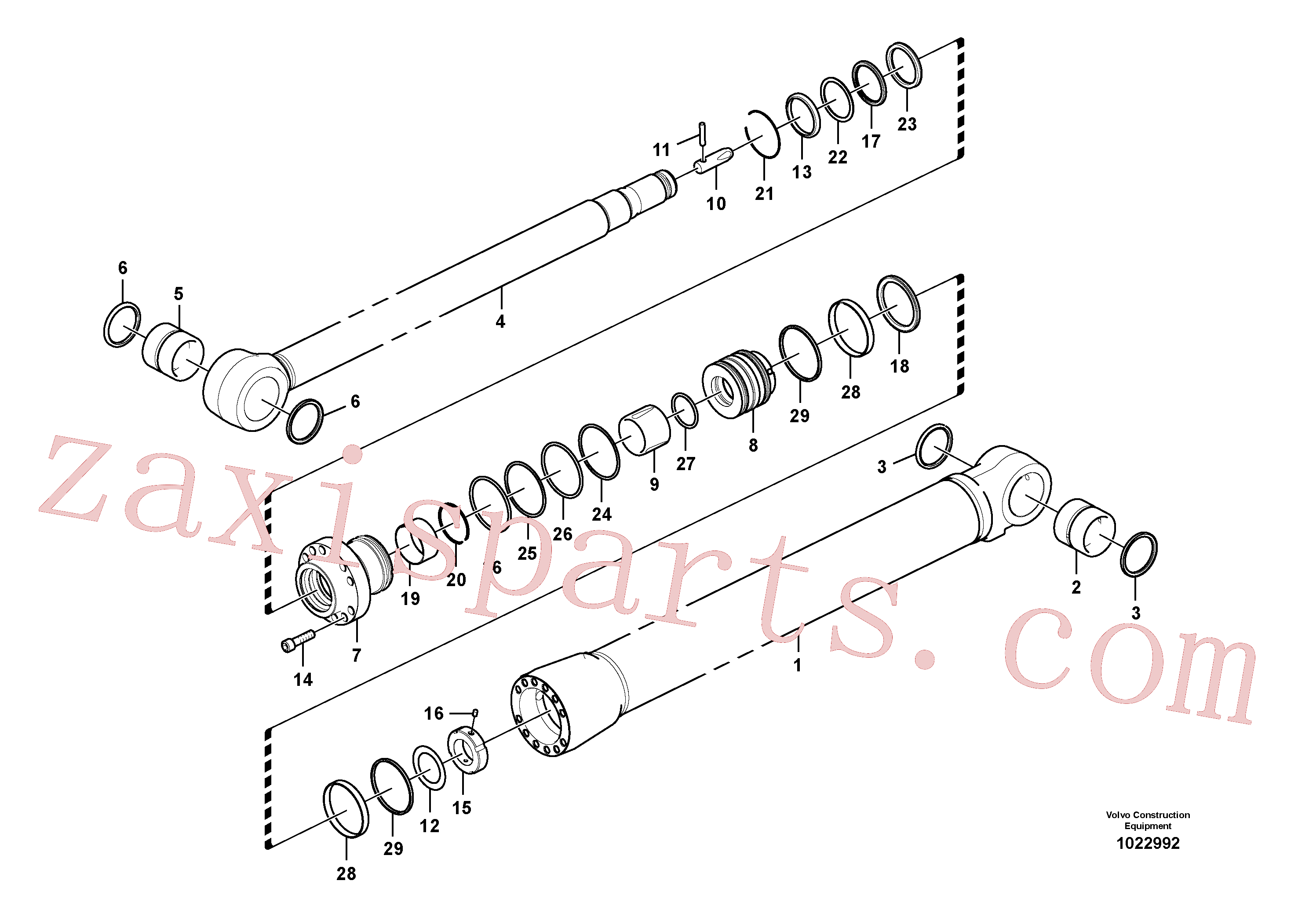 VOE14625055 for Volvo Dipper arm cylinder(1022992 assembly)