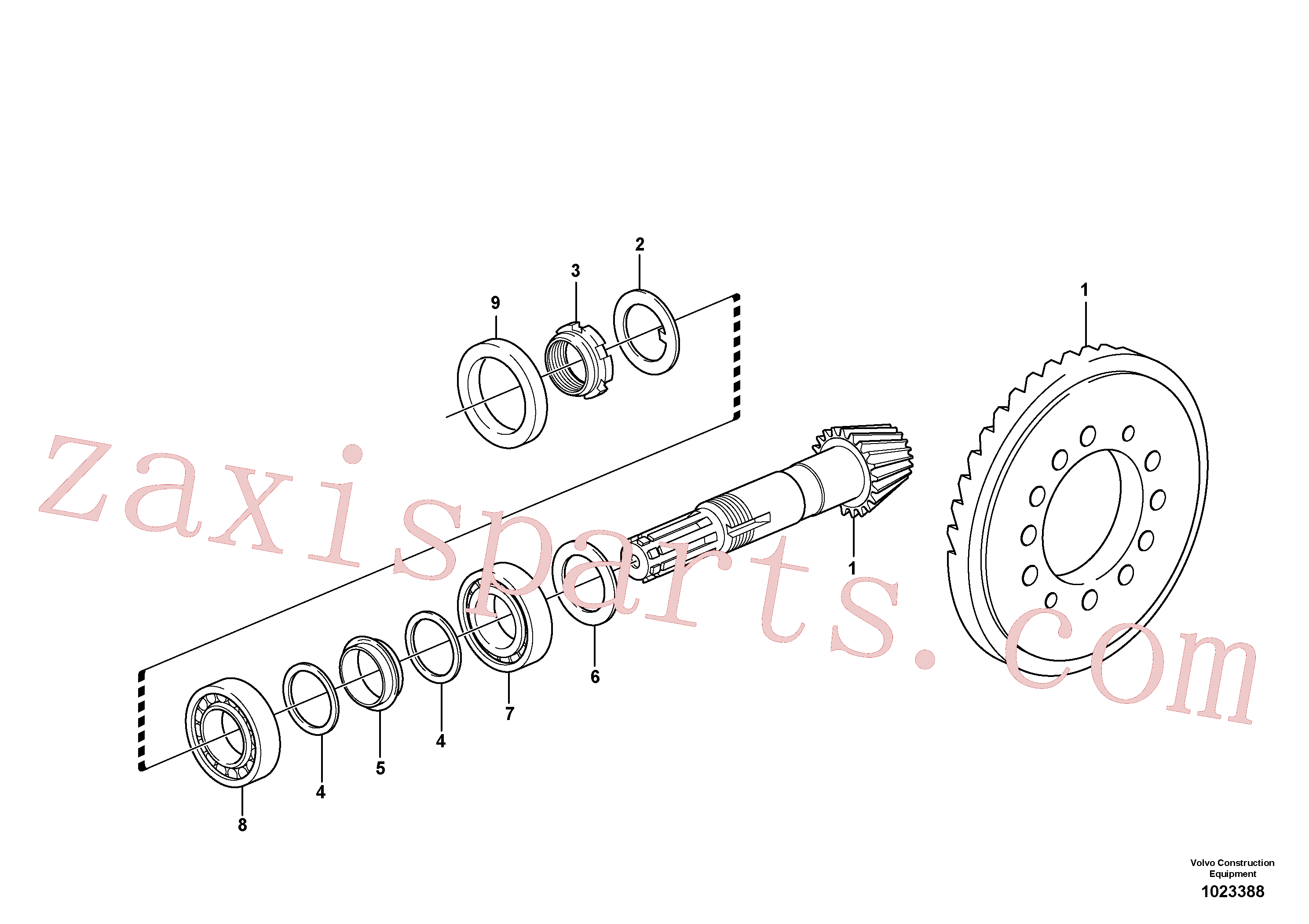 VOE11709294 for Volvo Pinion(1023388 assembly)