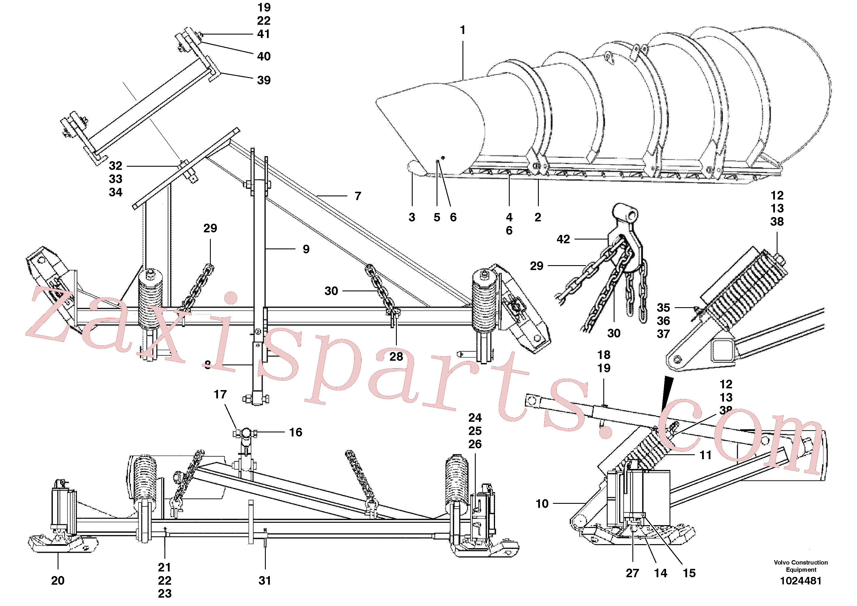 VOE12727644 for Volvo One-way plow(1024481 assembly)