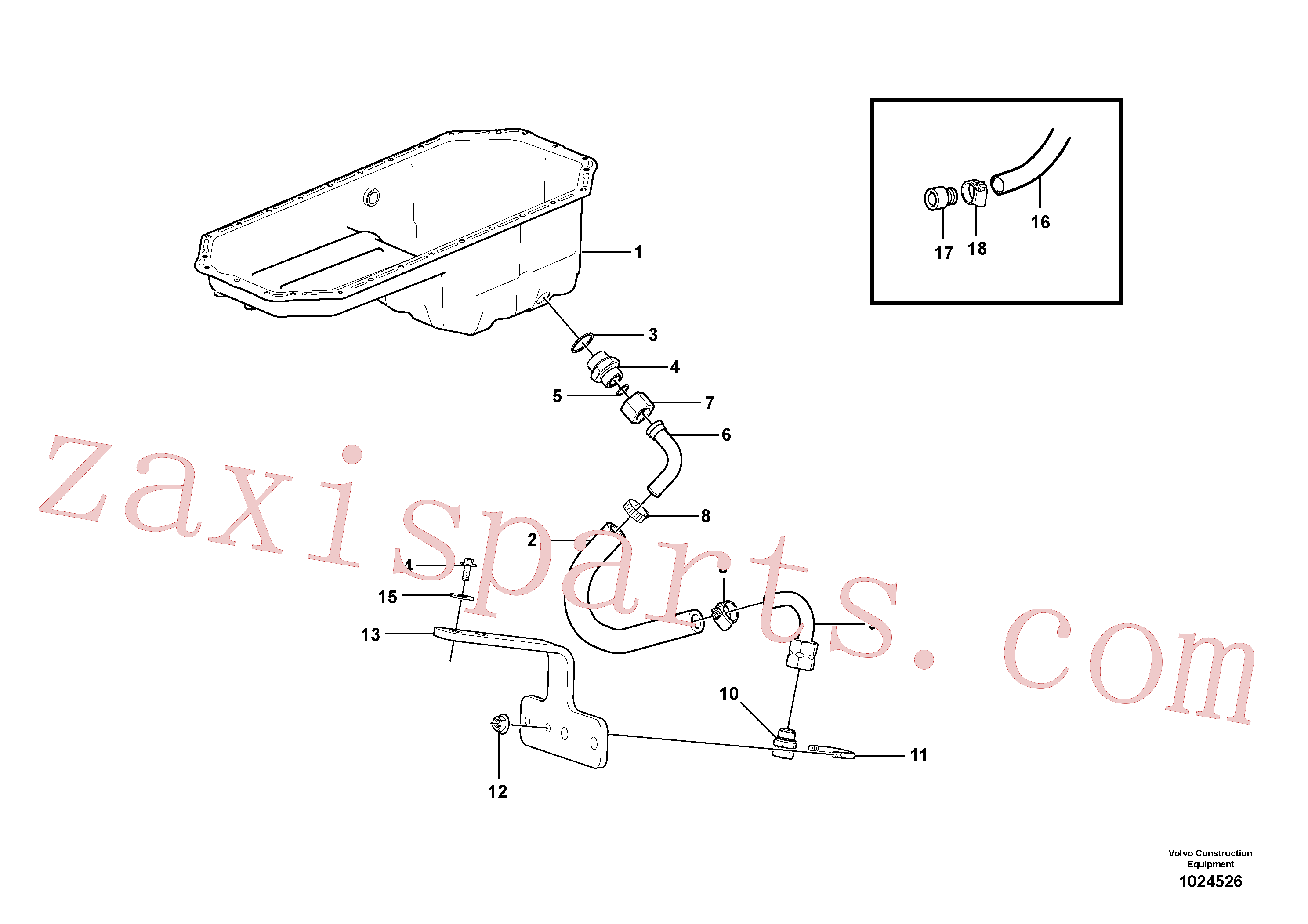 SA9312-00008 for Volvo Draining of oil sump(1024526 assembly)