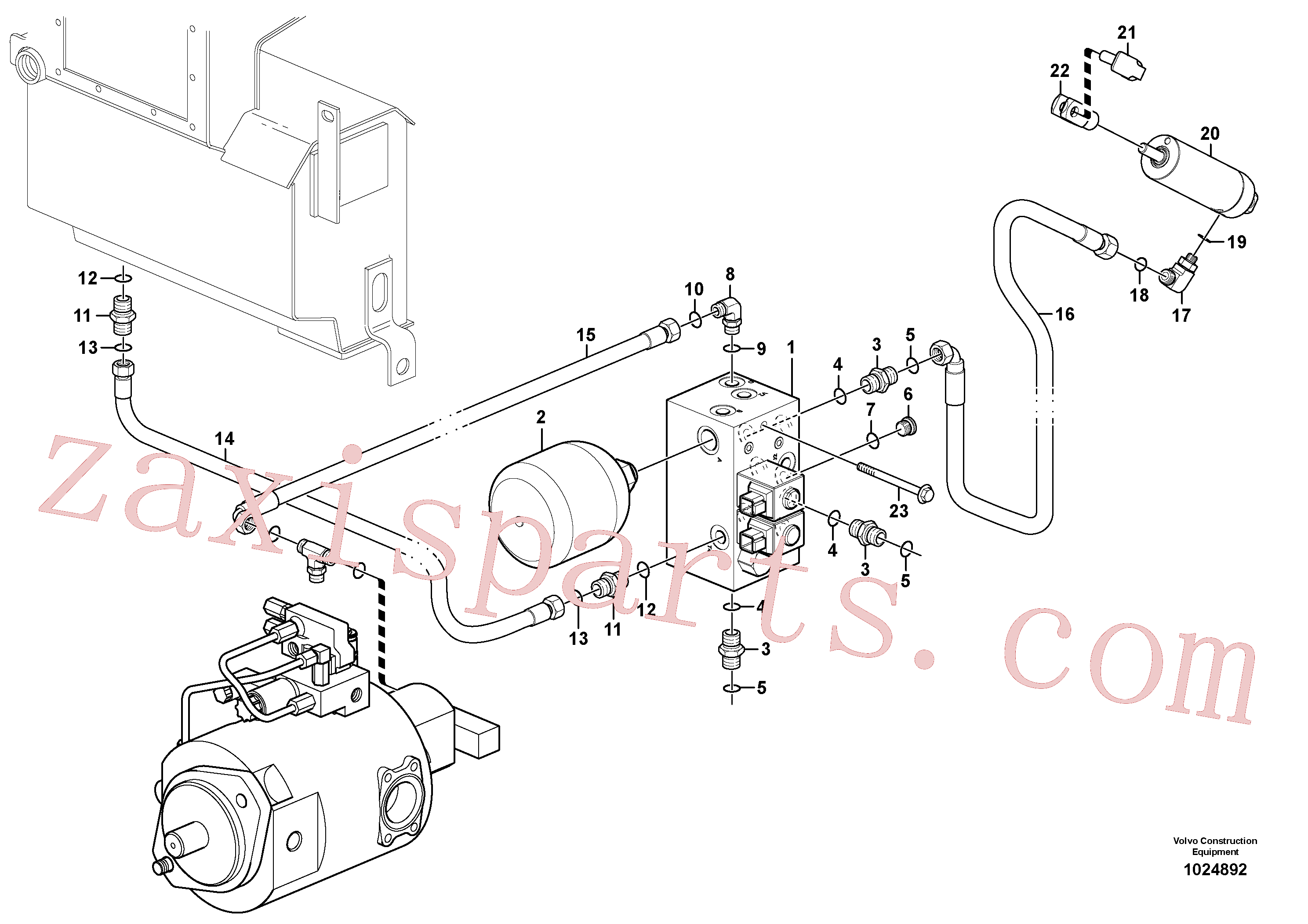 VOE11888096 for Volvo Pressure limiting valve(1024892 assembly)
