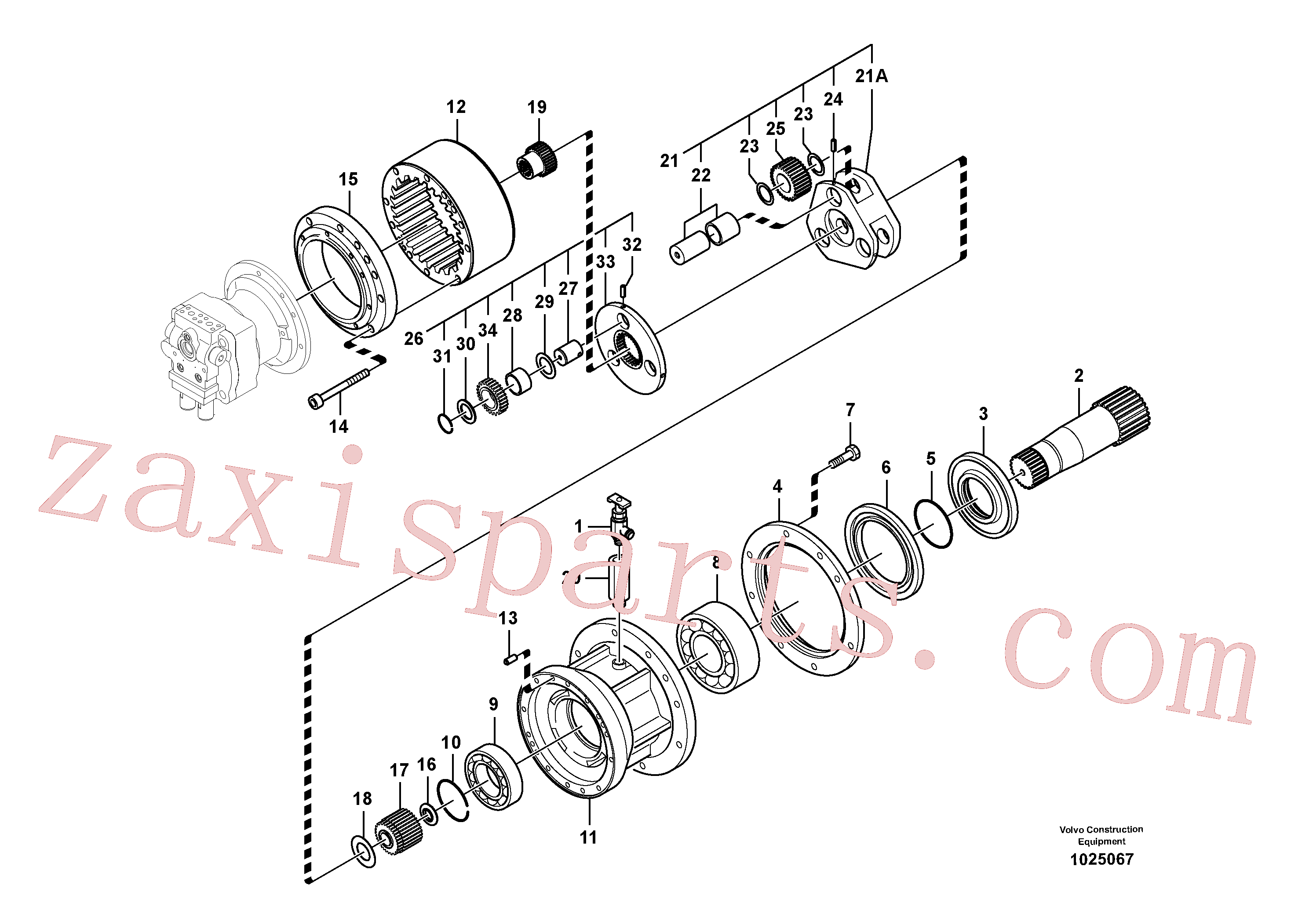 SA7118-30460 for Volvo Swing gearbox(1025067 assembly)