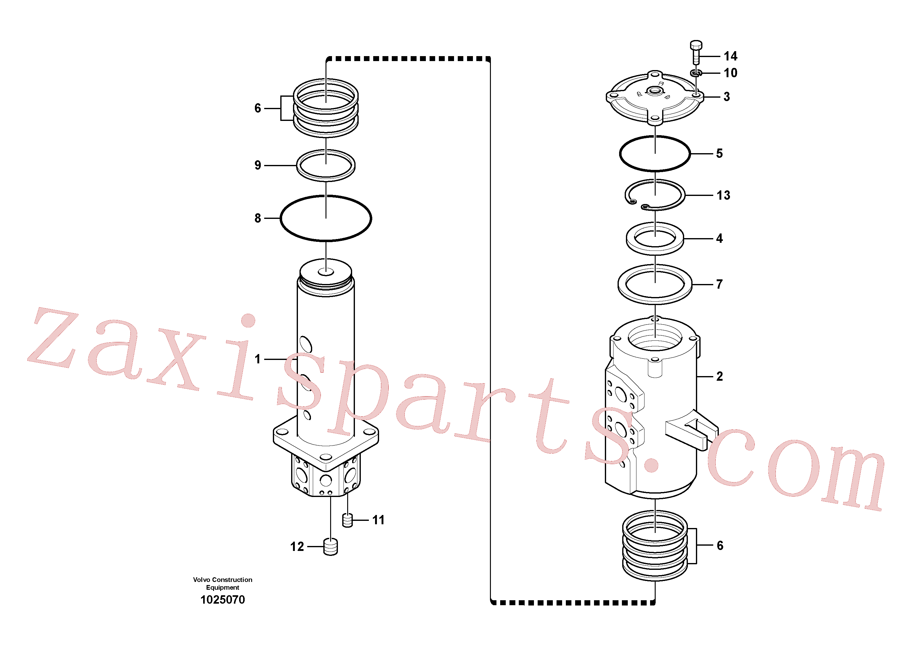 VOE990604 for Volvo Turning joint(1025070 assembly)