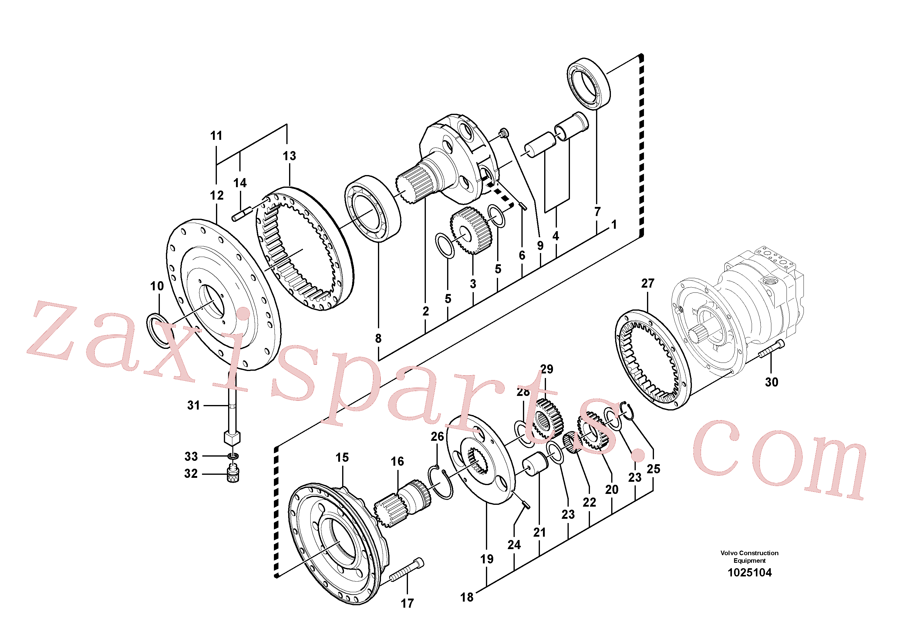 VOE14526227 for Volvo Swing gearbox(1025104 assembly)