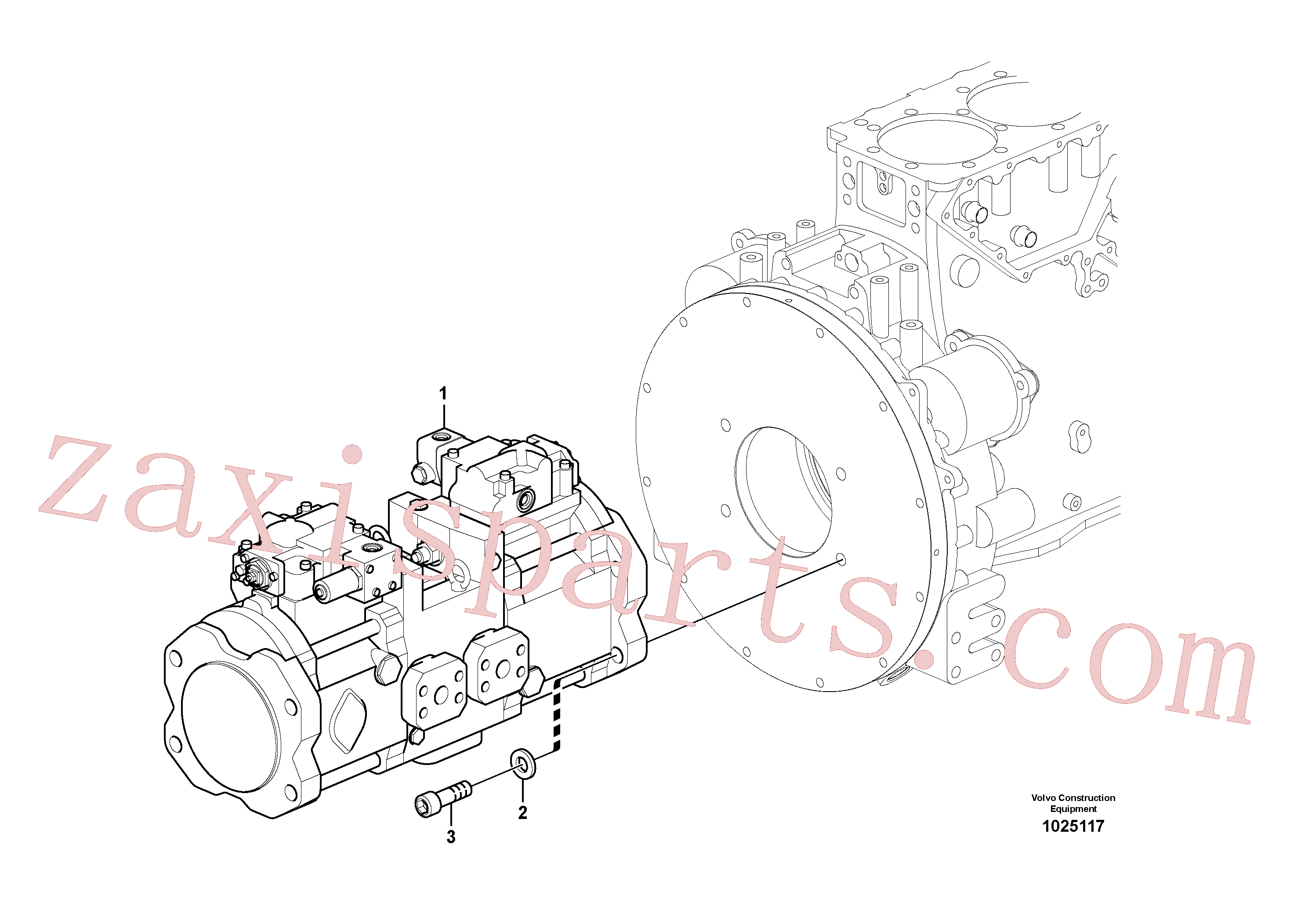 VOE14595548 for Volvo Pump installation(1025117 assembly)