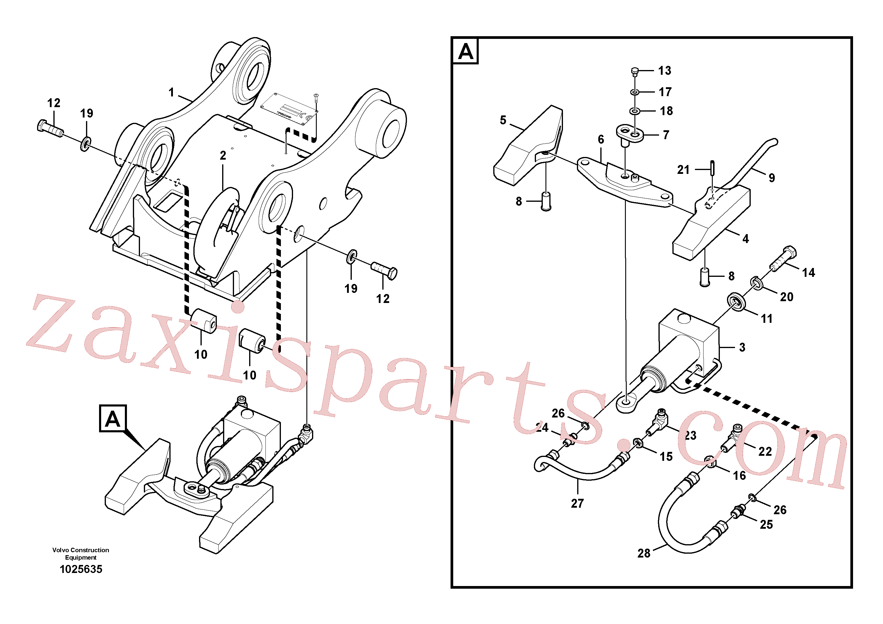 VOE14557800 for Volvo Attachment bracket, quickfit(1025635 assembly)