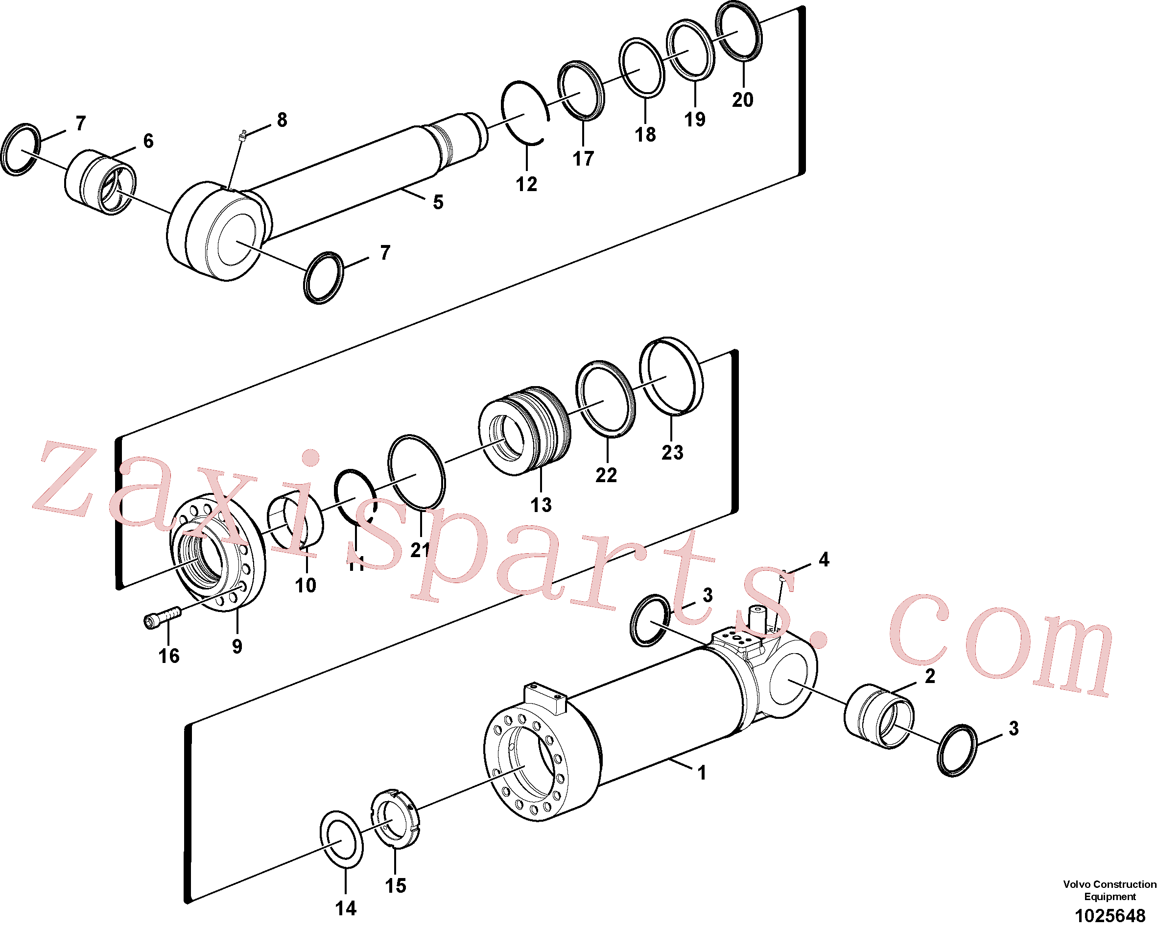 SA9563-20900 for Volvo Dozer blade cylinder(1025648 assembly)